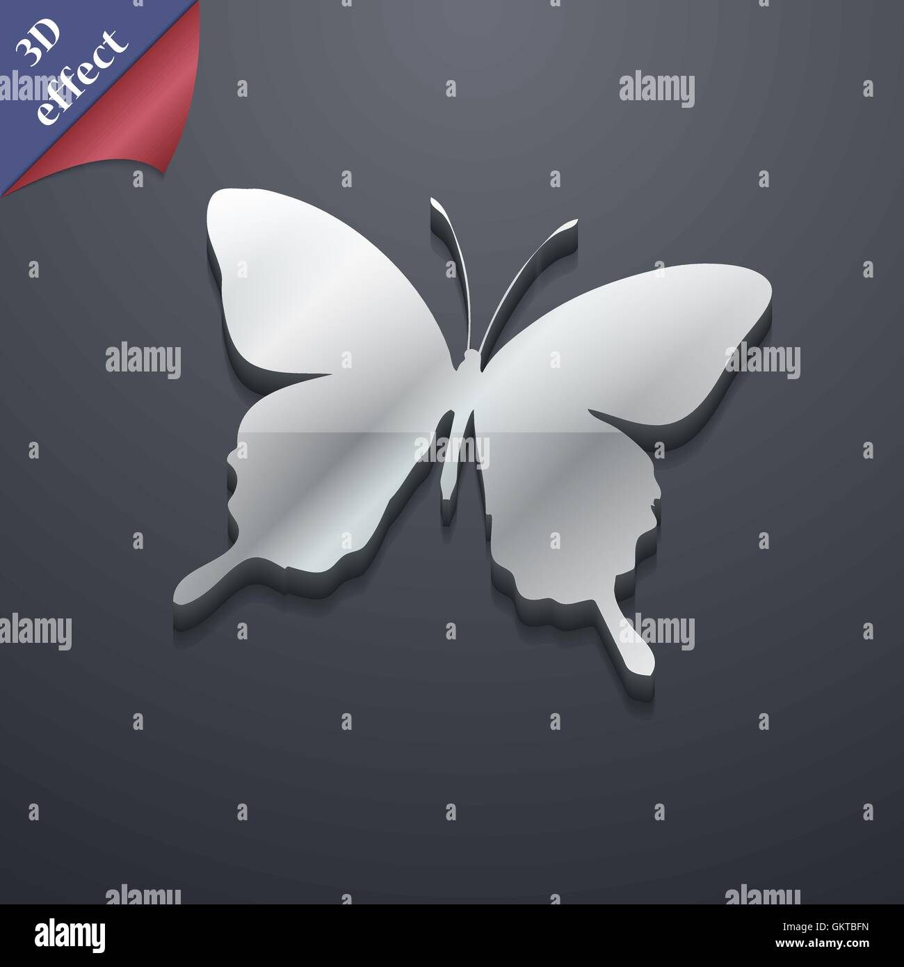 Butterfly icon symbol 3d style trendy modern design with space butterfly icon symbol 3d style trendy modern design with space for your text vector biocorpaavc Images