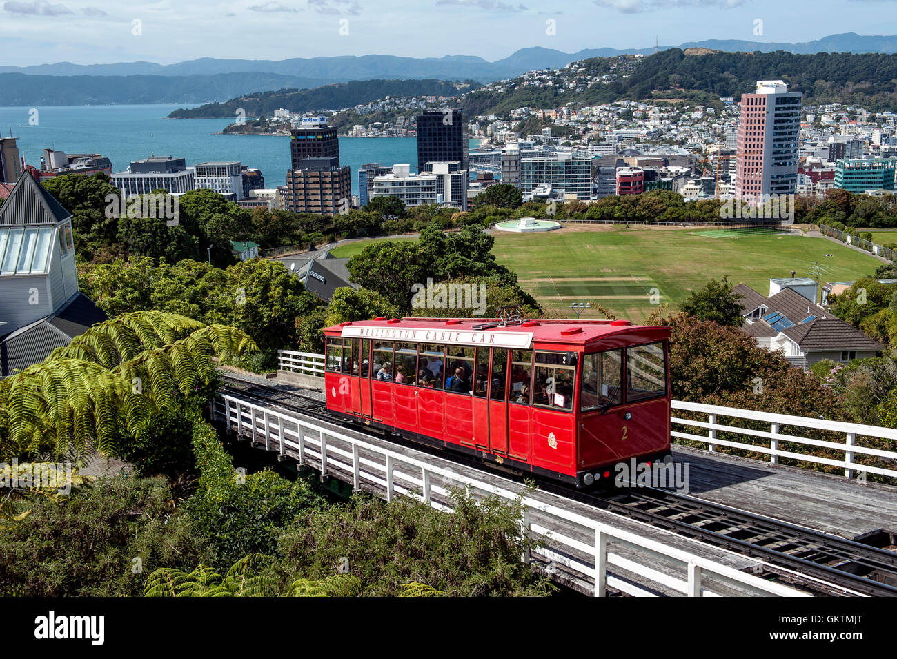 The Wellington Cable Car Is A Funicular Railway In Wellington New