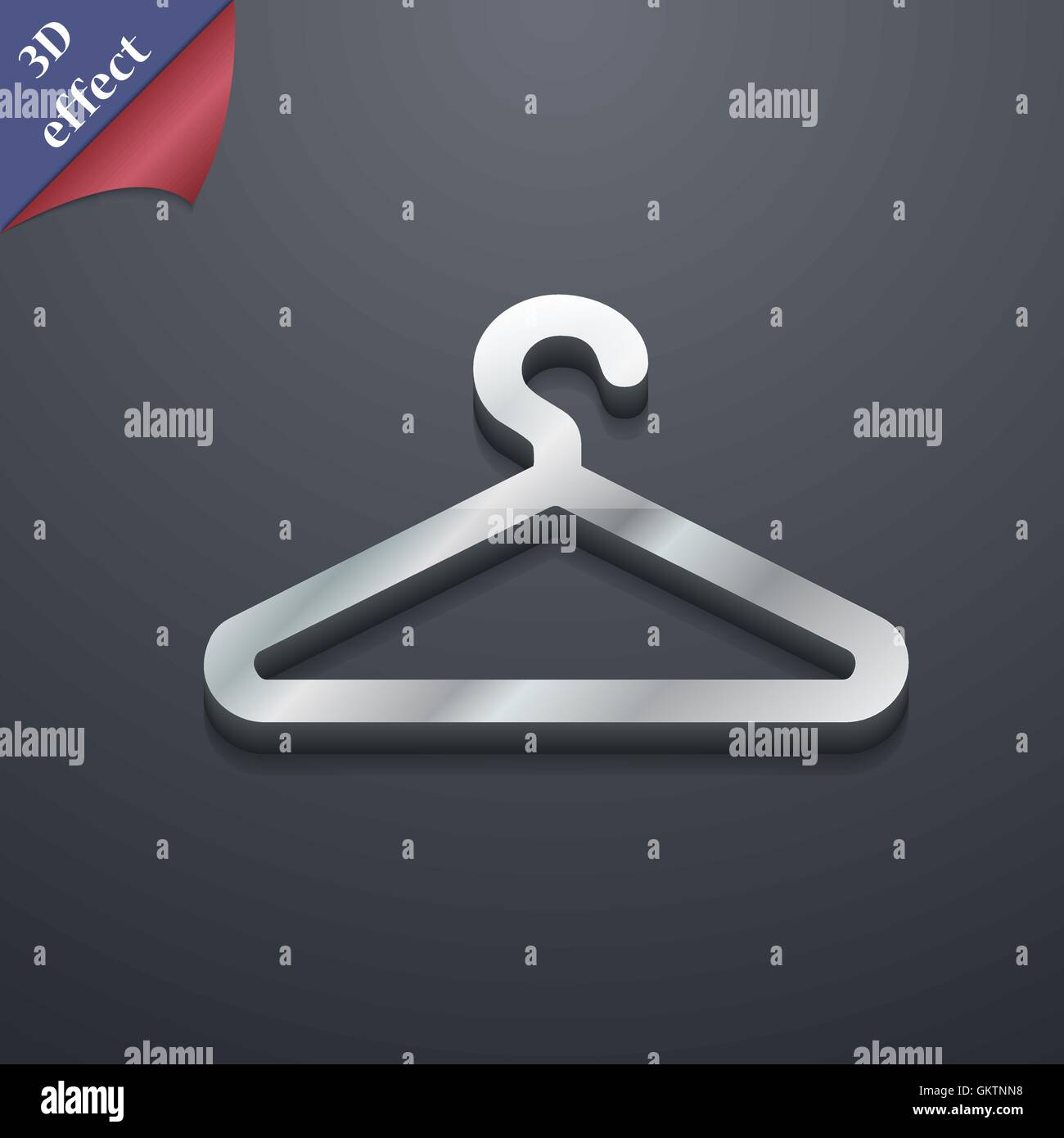 Clothes hanger icon symbol 3d style trendy modern design with clothes hanger icon symbol 3d style trendy modern design with space for your text vector biocorpaavc