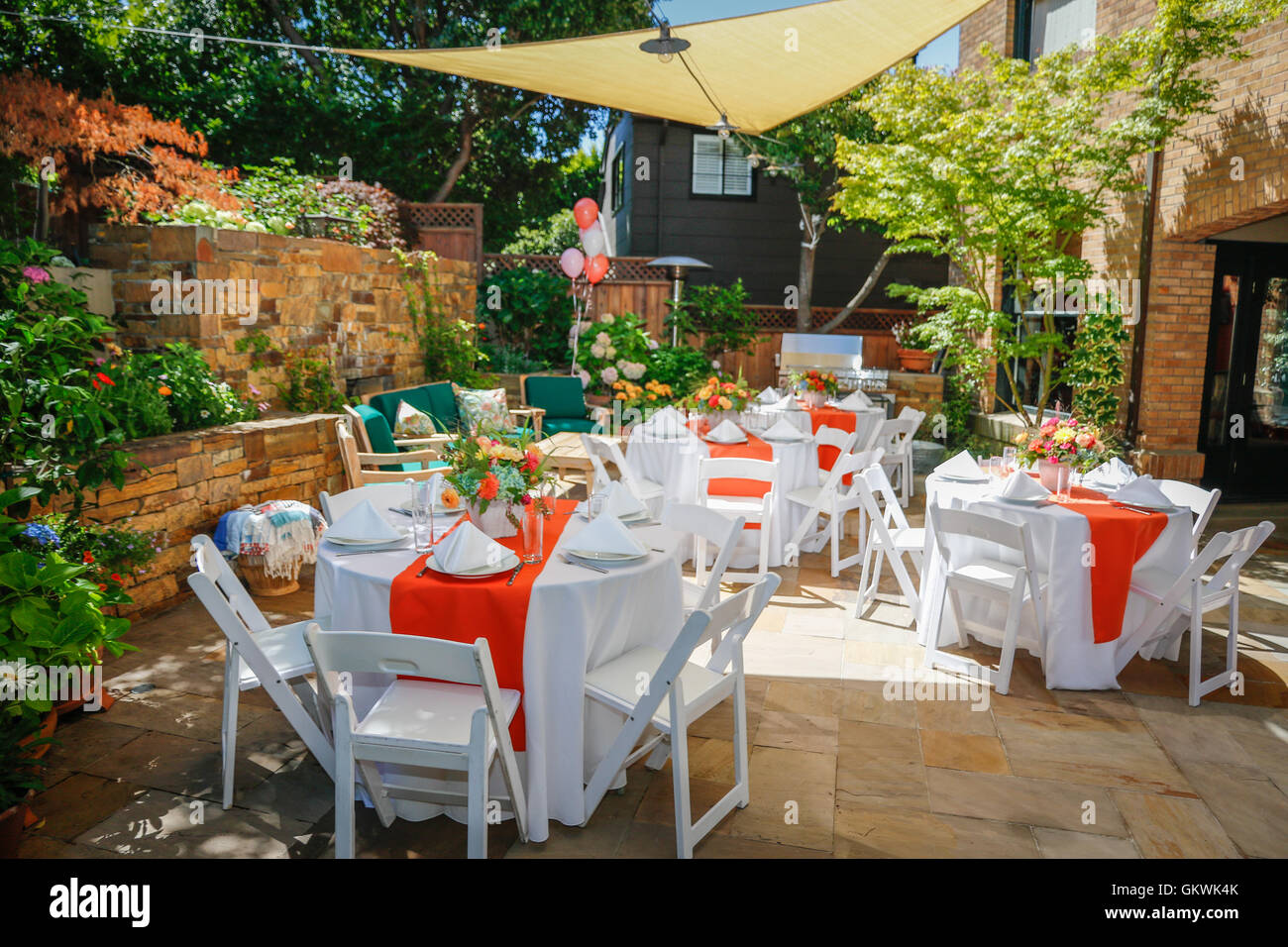 Outdoor Party Table Setting