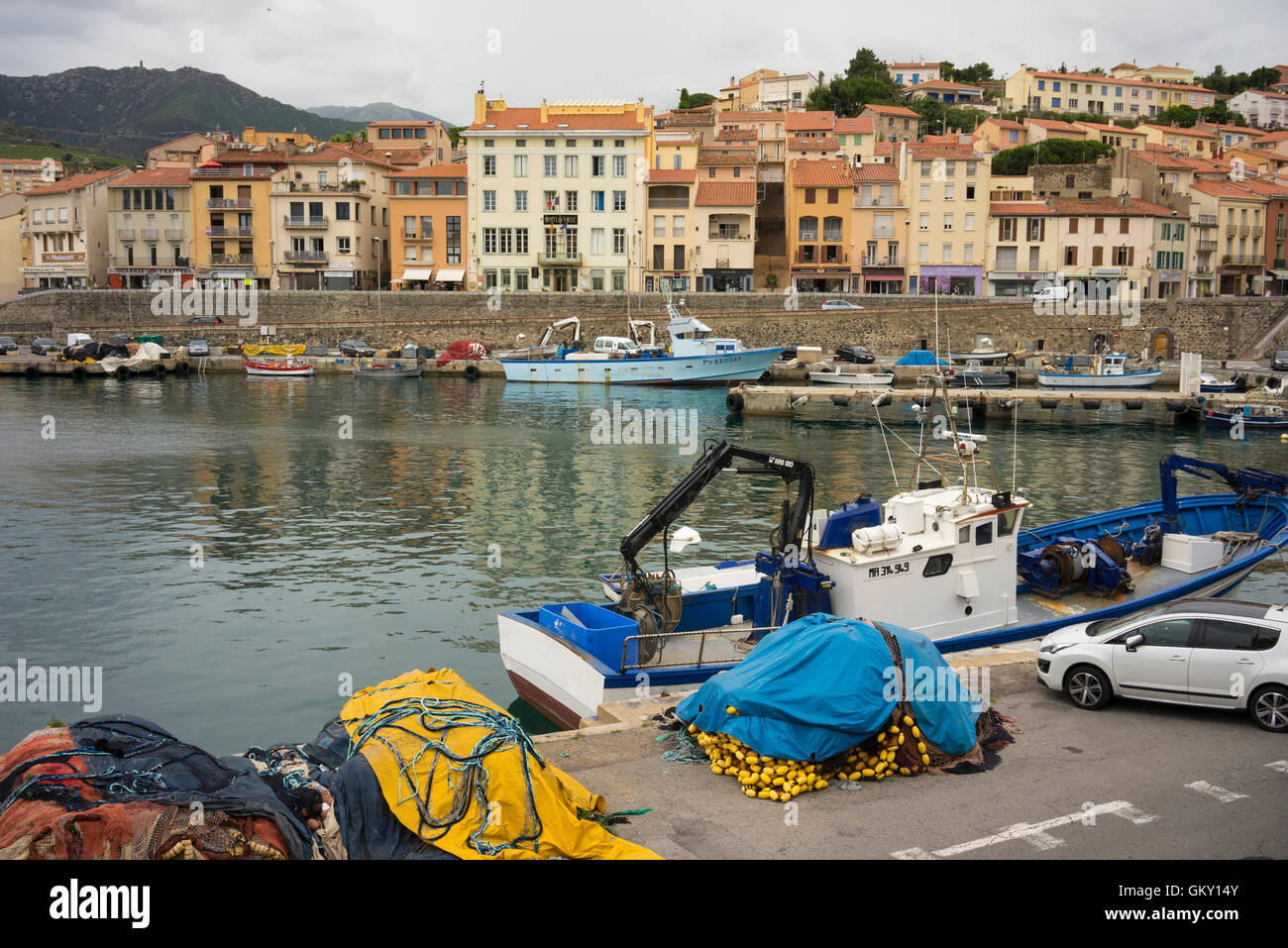 PortVendres In The PyreneesOrientales France Stock Photo - Location port vendres