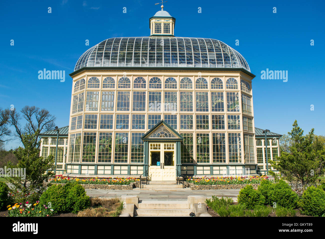 H.P. Rawlings Conservatory And Botanic Gardens In Druid Hill Park In  Baltimore, Maryland
