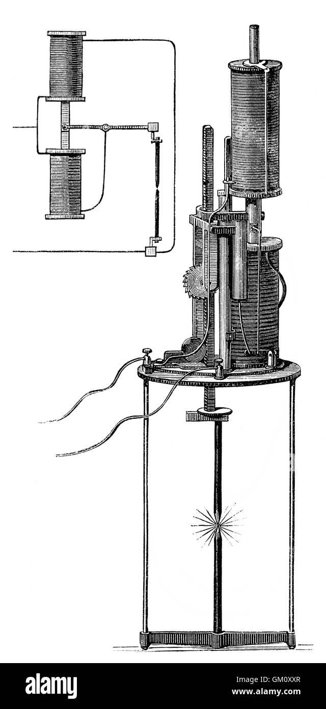 Electric carbon arc lamp, 1879, by Ernst Werner von Siemens, 1816 ...
