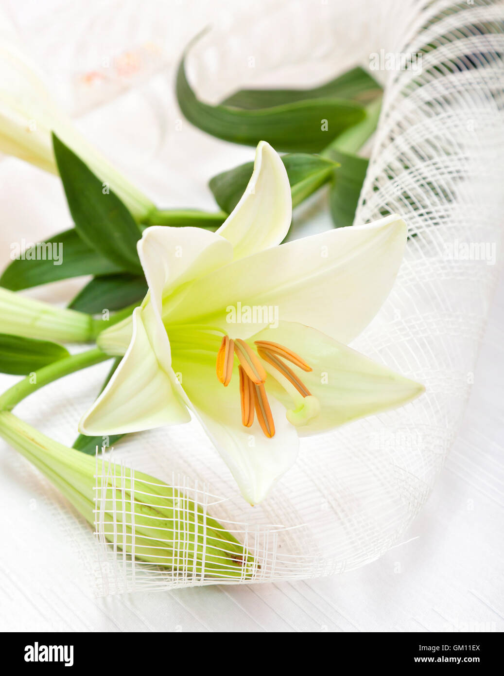 Beautiful white easter lily flower bouquet religious symbol of beautiful white easter lily flower bouquet religious symbol of the first holy communion biocorpaavc