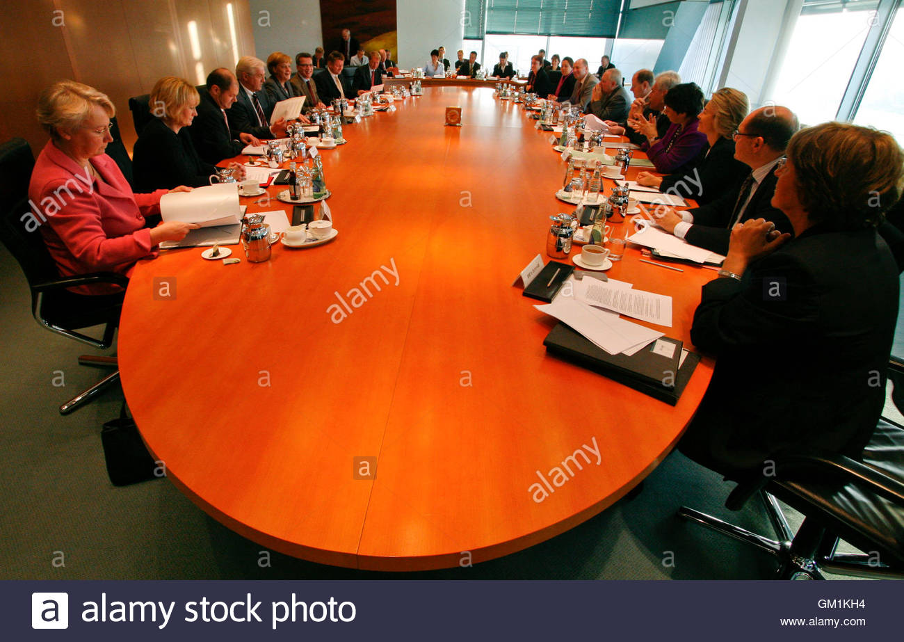 German Cabinet Members Attend An Extraordinary Working Session At ...