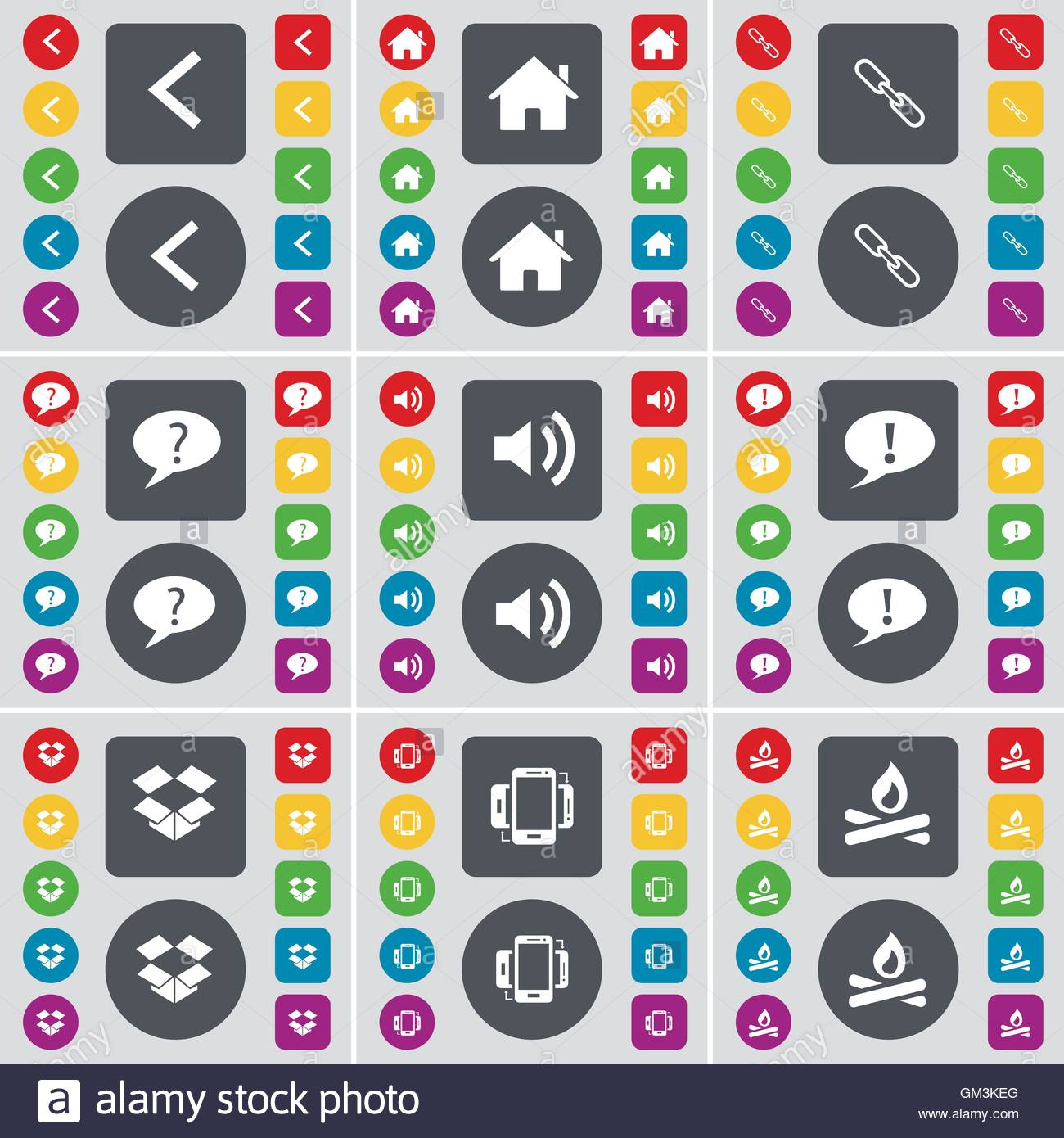 Arrow left house link chat bubble sound dropbox smartphone arrow left house link chat bubble sound dropbox smartphone campfire icon symbol a large set of flat colored buttons for biocorpaavc Gallery