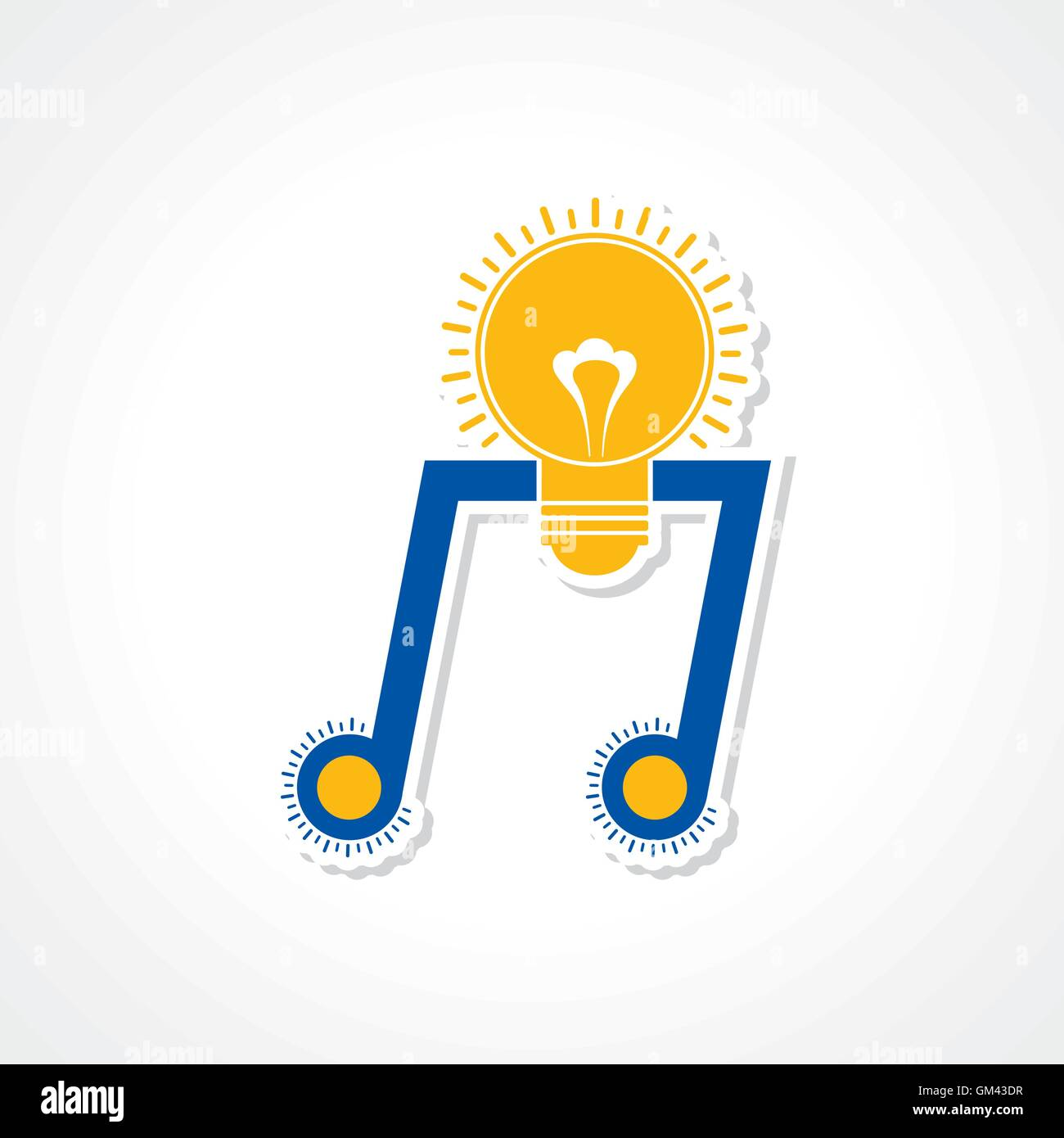 Musical inspiration creativity concept as a music note symbol in musical inspiration creativity concept as a music note symbol in the shape of a glowing glass light bulb biocorpaavc Gallery