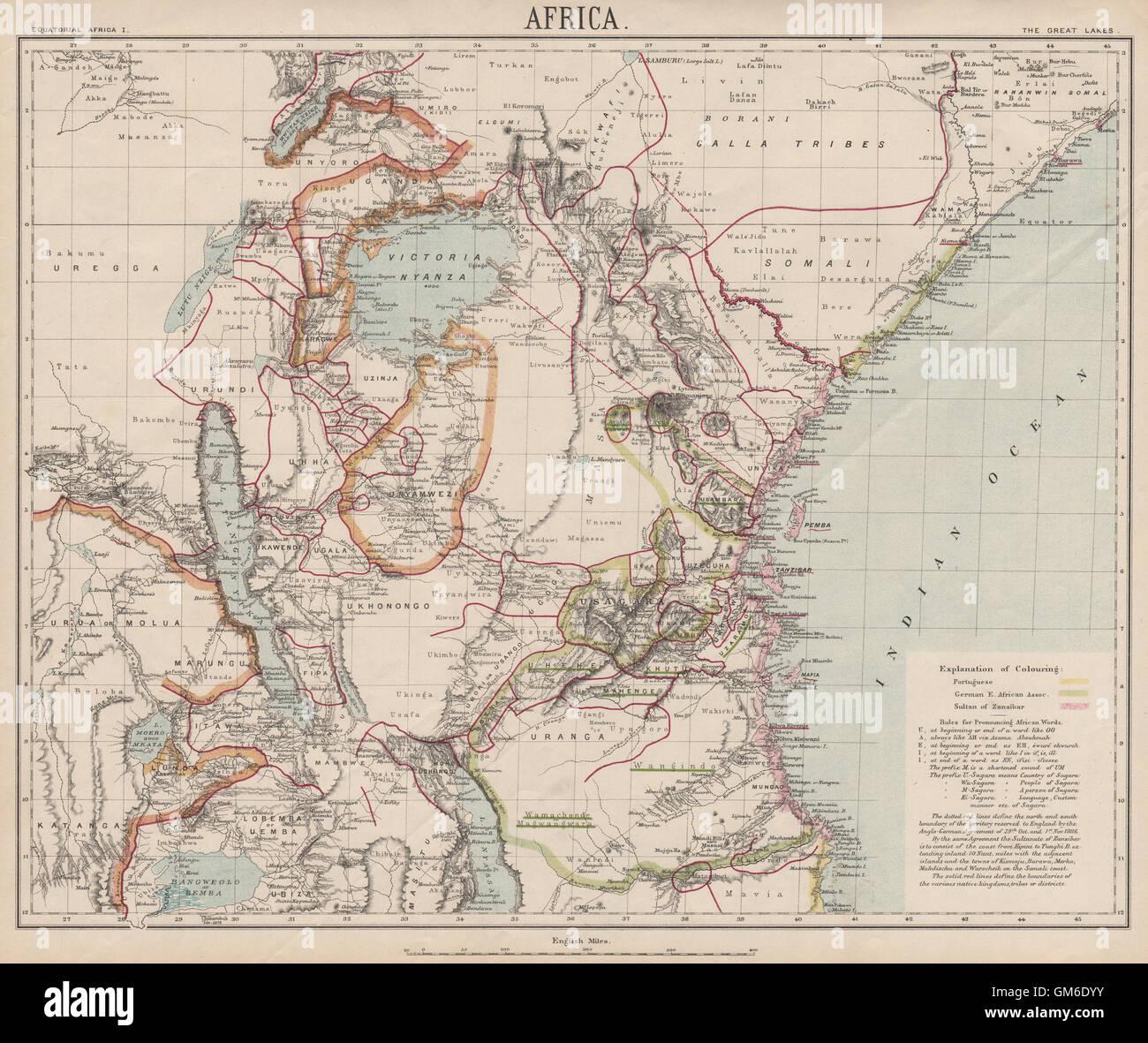 EAST AFRICAN GREAT LAKES GermanPortuguese Tanzania Zanzibar