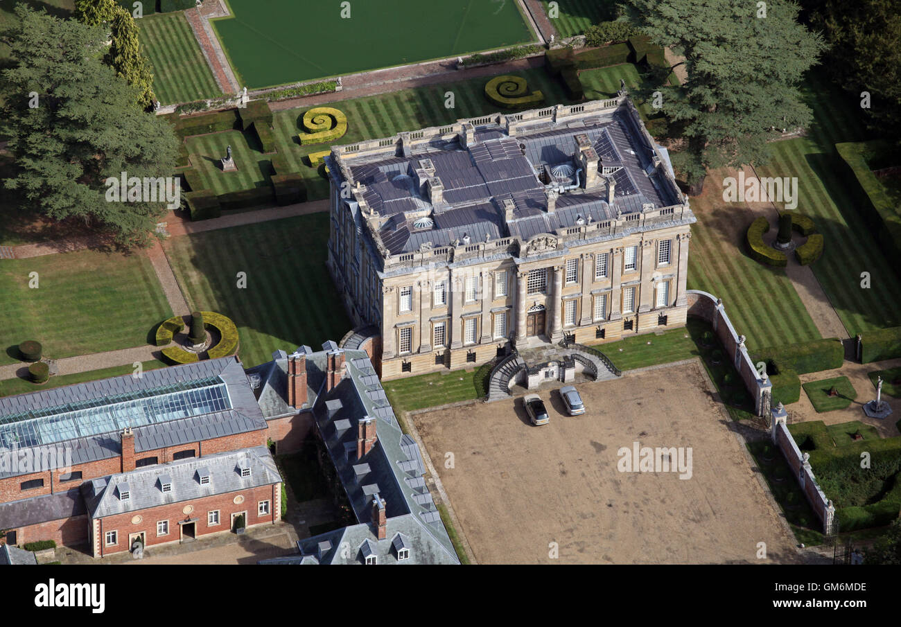 Aerial view of easton neston country house mansion near for See images of my house