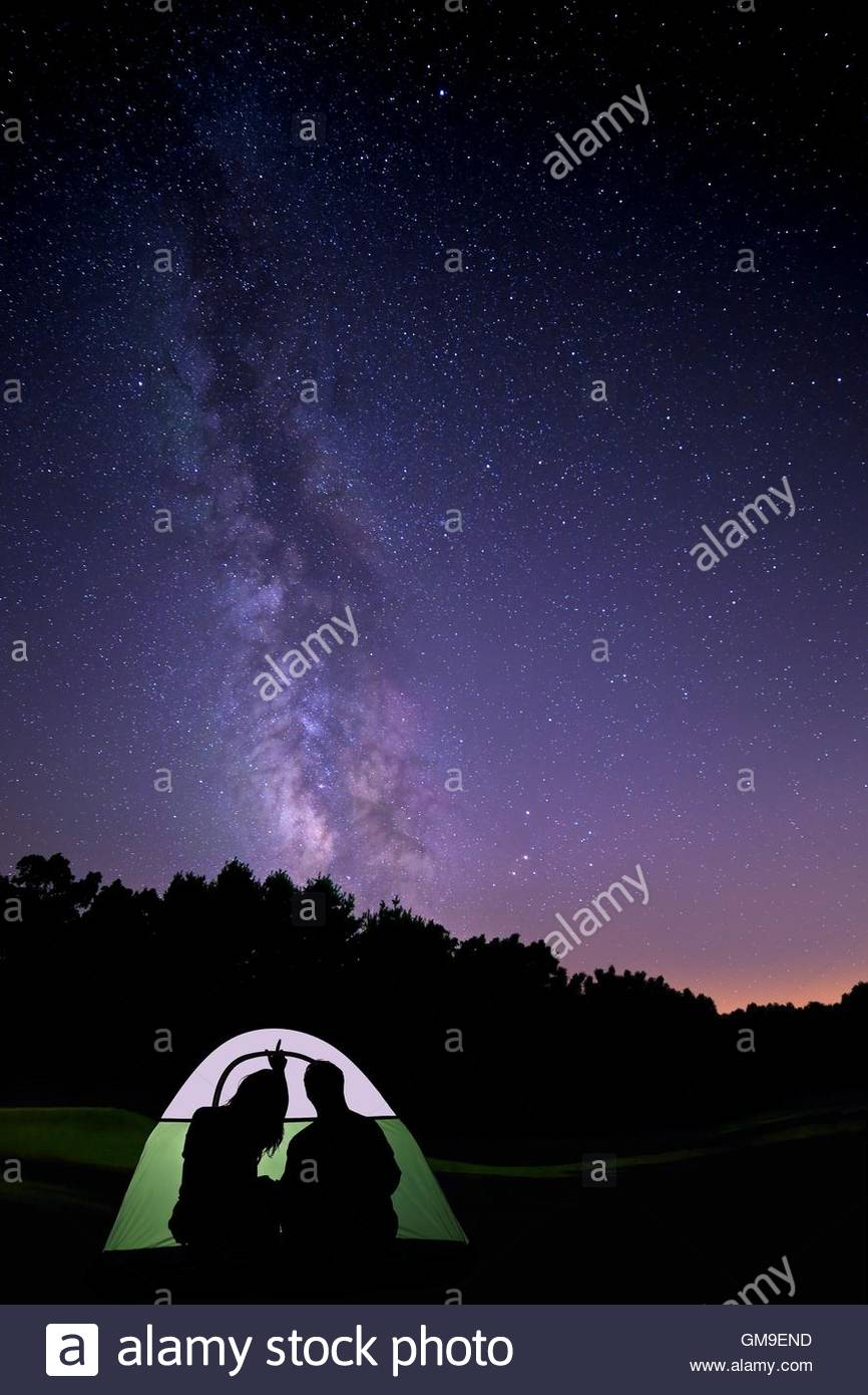Glowing Tent Under the Stars & Glowing Tent Under the Stars Stock Photo Royalty Free Image ...