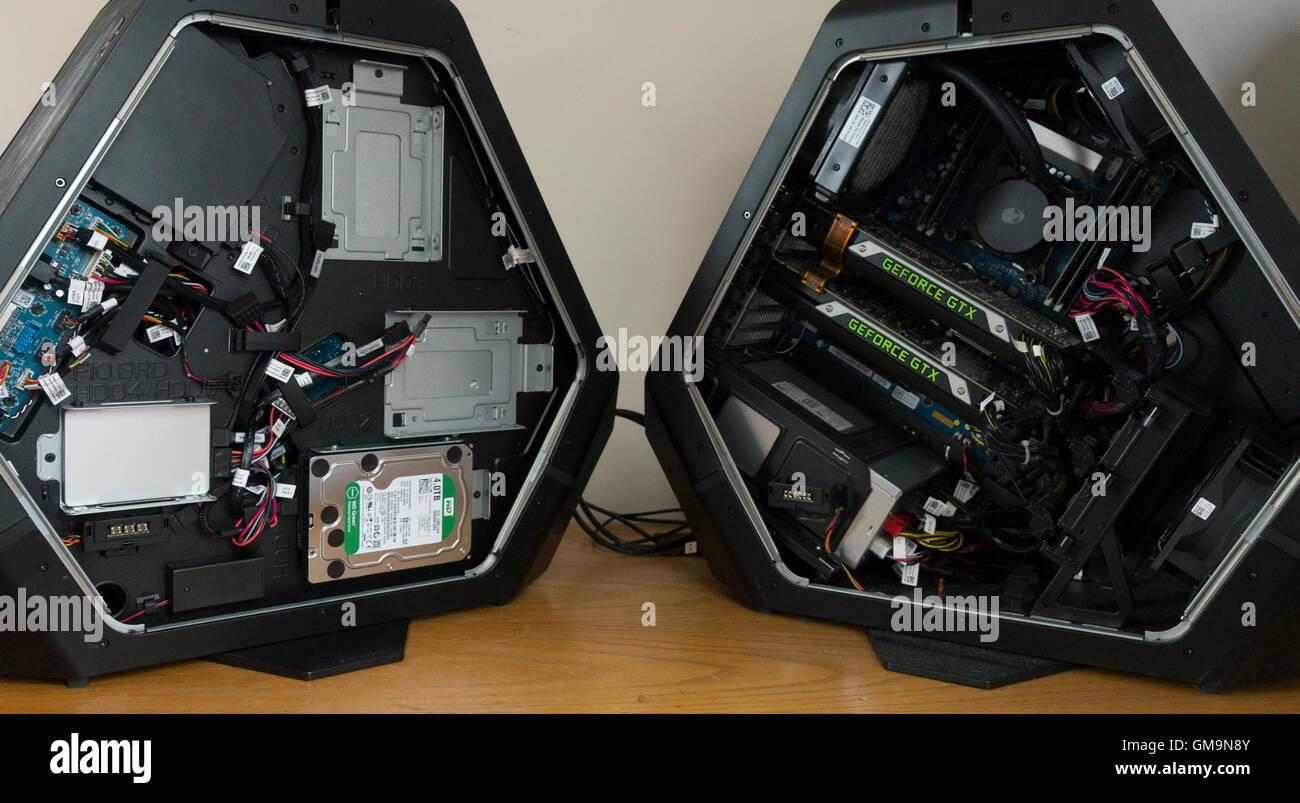 Alienware Area 51 Desktop, With The Side Doors Off