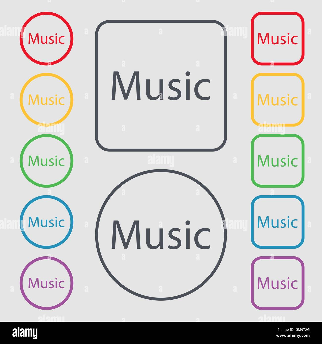Music Sign Icon Karaoke Symbol Symbols On The Round And Square