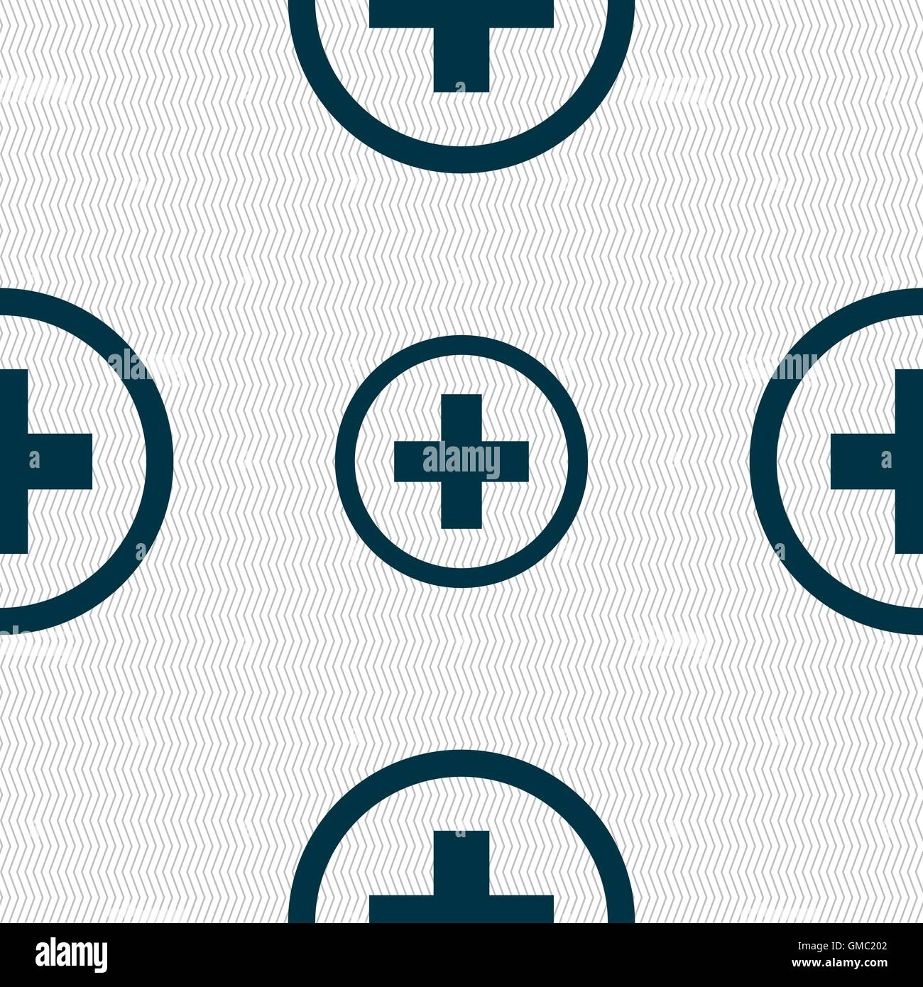 Plus sign icon positive symbol zoom in seamless abstract stock plus sign icon positive symbol zoom in seamless abstract background with geometric shapes vector biocorpaavc Choice Image