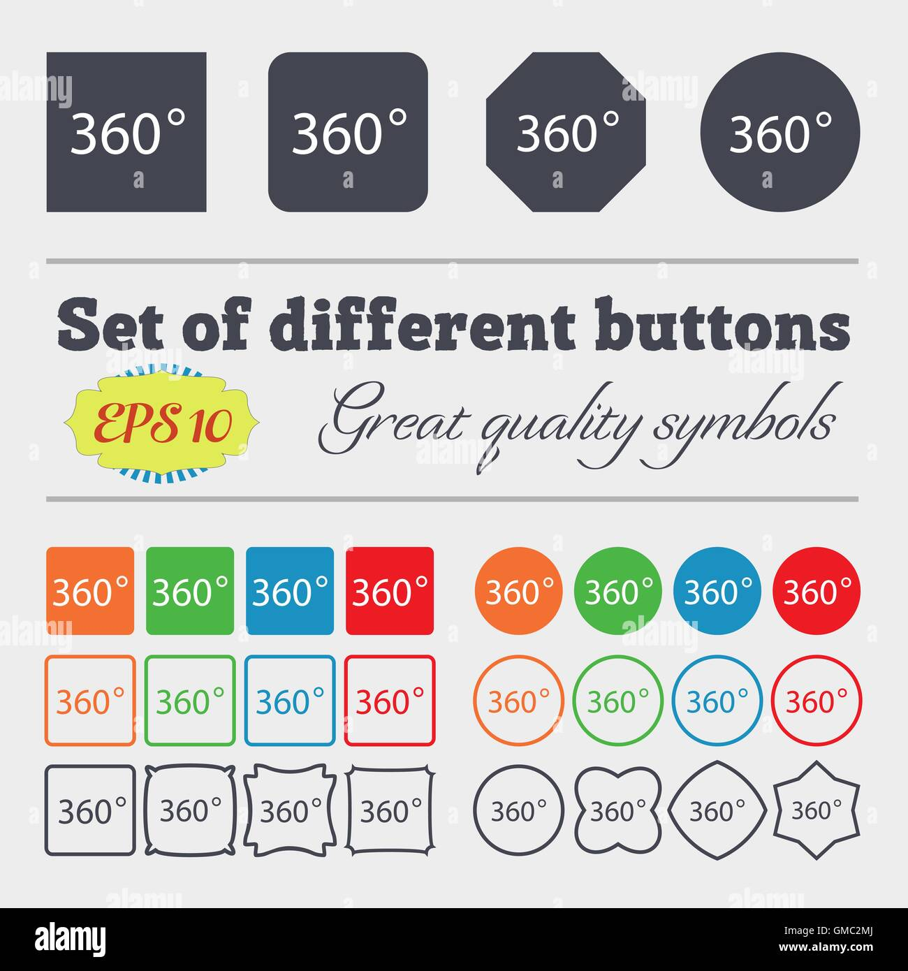 Angle 360 degrees sign icon geometry math symbol full rotation geometry math symbol full rotation big set of colorful diverse high quality buttons vector buycottarizona