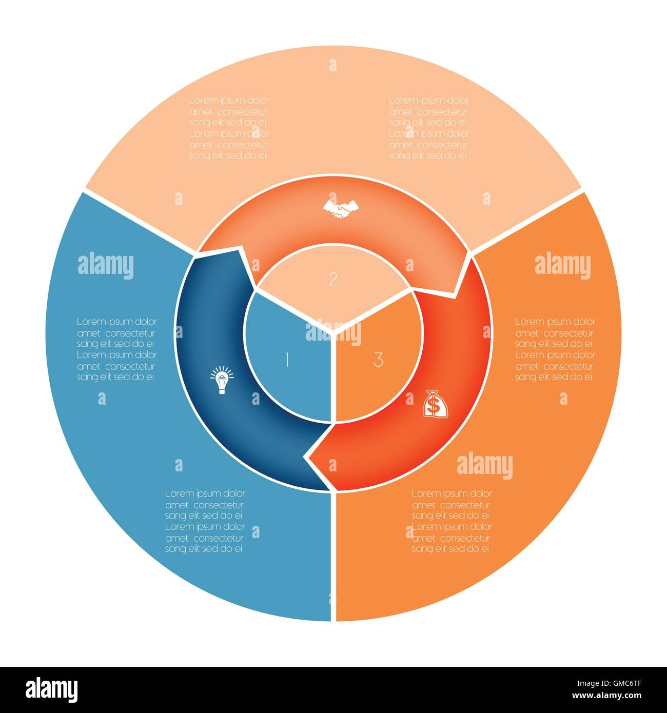 Area chart ring chart pie chart template infographic numbered three area chart ring chart pie chart template infographic numbered three position nvjuhfo Images