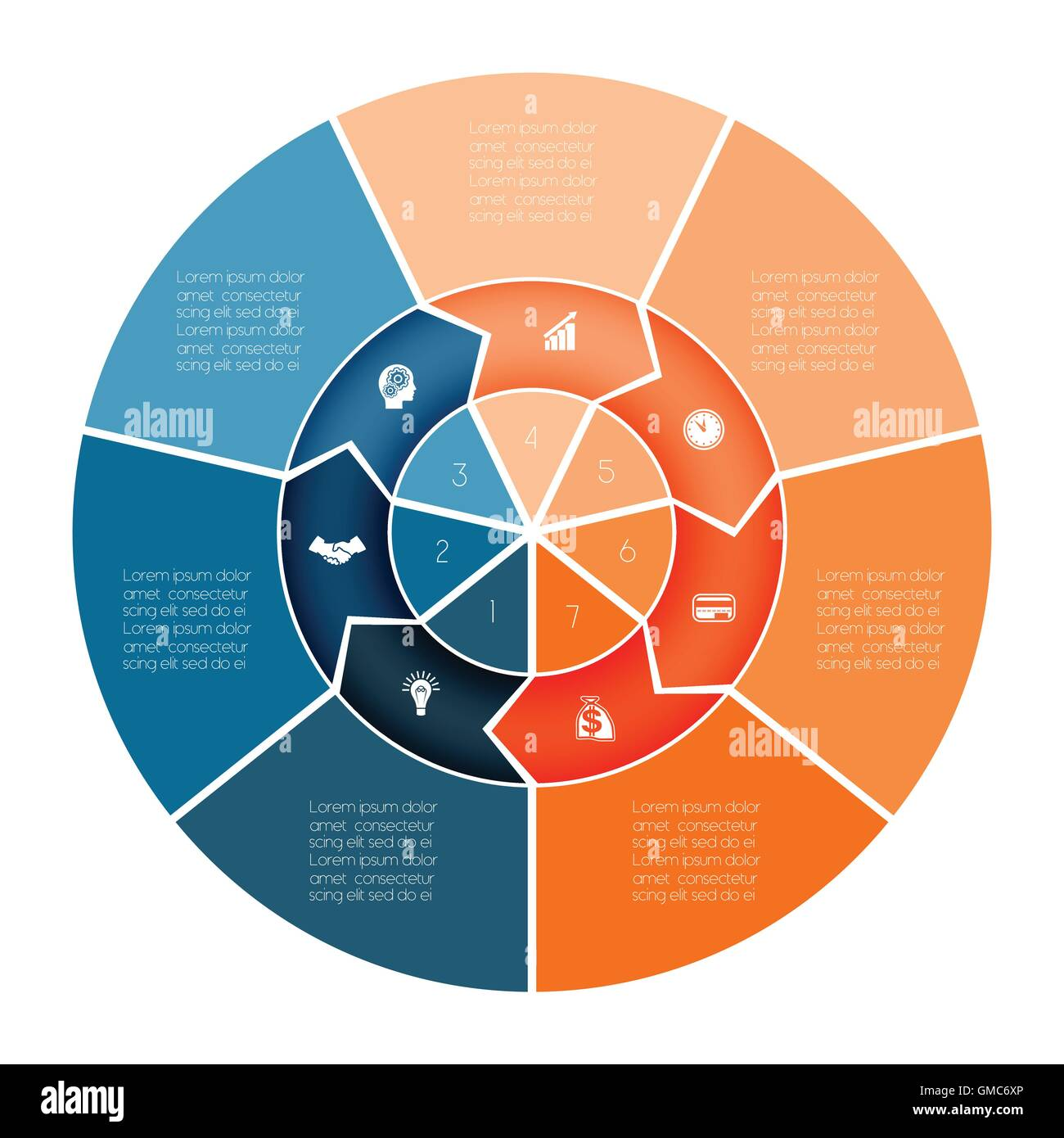 Area chart ring chart pie chart template infographic numbered seven area chart ring chart pie chart template infographic numbered seven position nvjuhfo Images