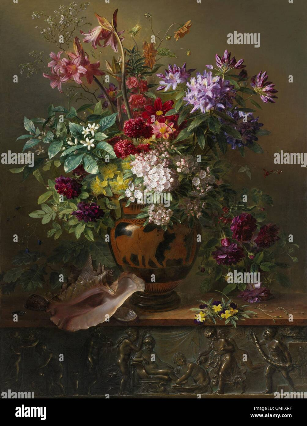 Still life with flowers in a greek vase allegory of spring by still life with flowers in a greek vase allegory of spring by georgius jacobus reviewsmspy