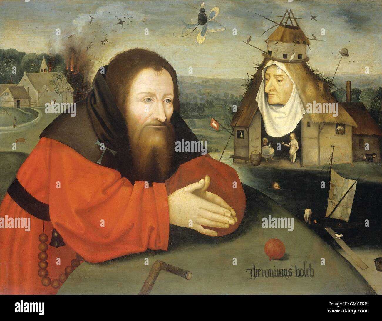 The temptation of st anthony by hieronymus bosch c 1530 1600 st anthony the hermit in prayer accompanied by bosch grotesques and netherlandish symbolism bsloc20166242 biocorpaavc