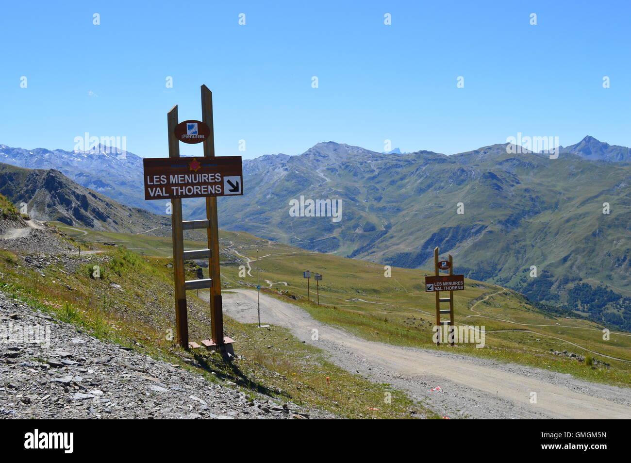 France Savoie Les Ires Ski Resort In The Three Valleys Des