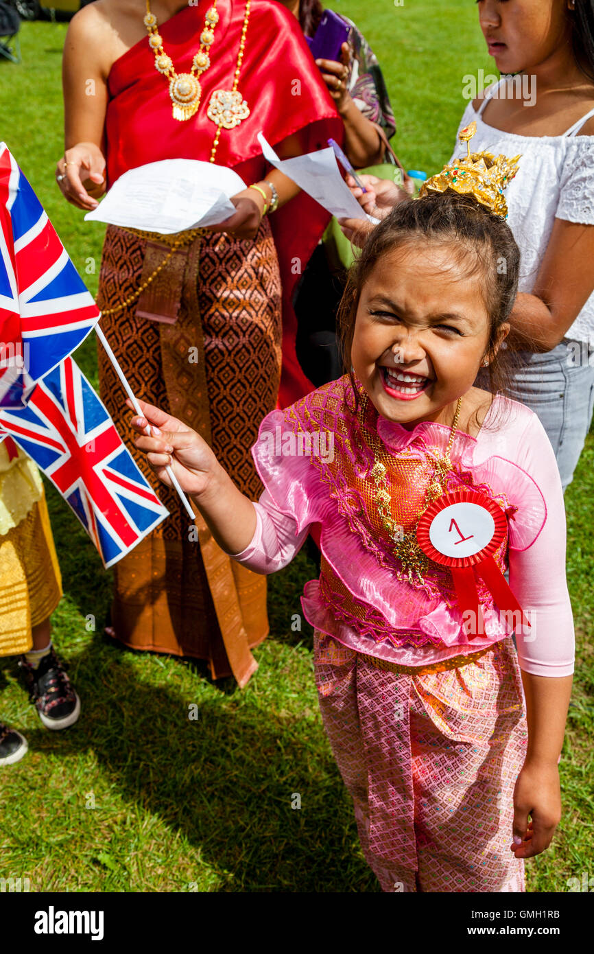 thai child An Anglo Thai Child At The Brighton Thai Festival, Preston Park, Brighton,  Sussex, UK