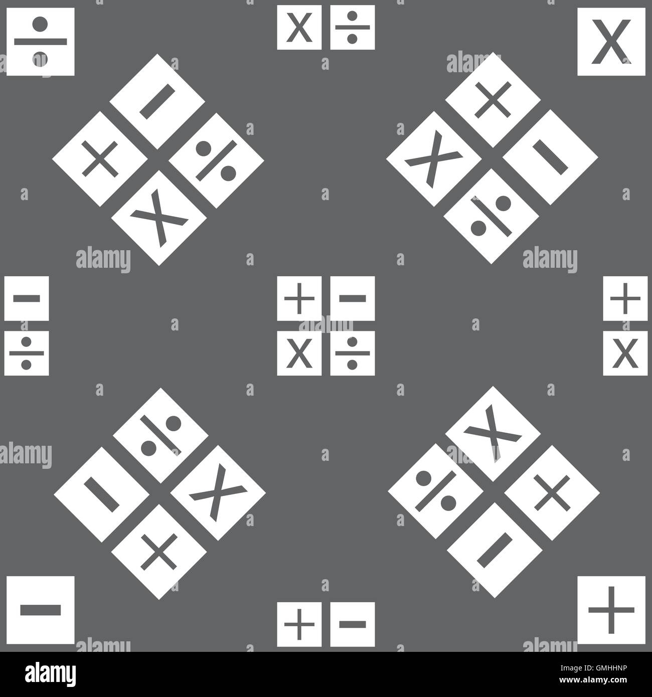 Multiplication division plus minus icon math symbol mathematics multiplication division plus minus icon math symbol mathematics seamless pattern on a gray background vector biocorpaavc Image collections