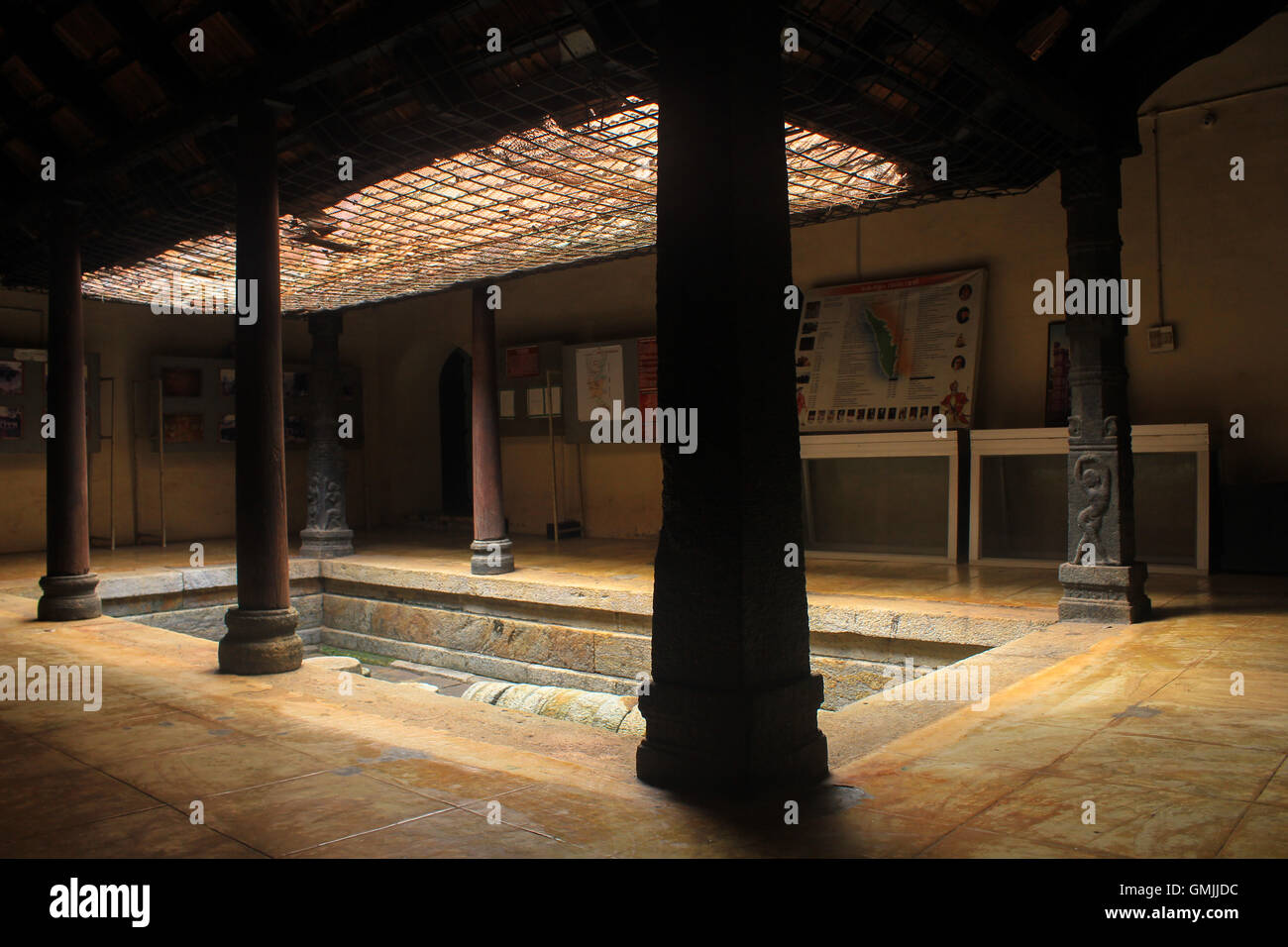 Inner Courtyard Of Naalukettu Ancient Artifacts Of The