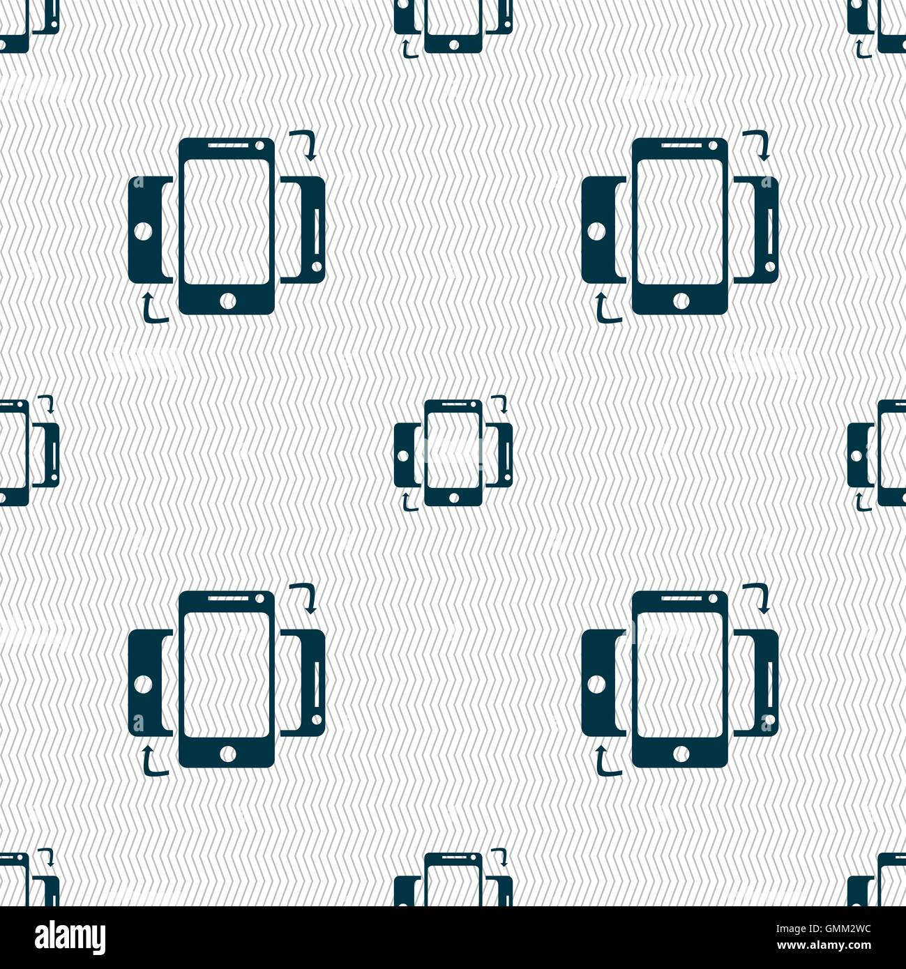 Synchronization sign icon smartphones sync symbol data exchange synchronization sign icon smartphones sync symbol data exchange seamless abstract background with geometric shapes vector biocorpaavc