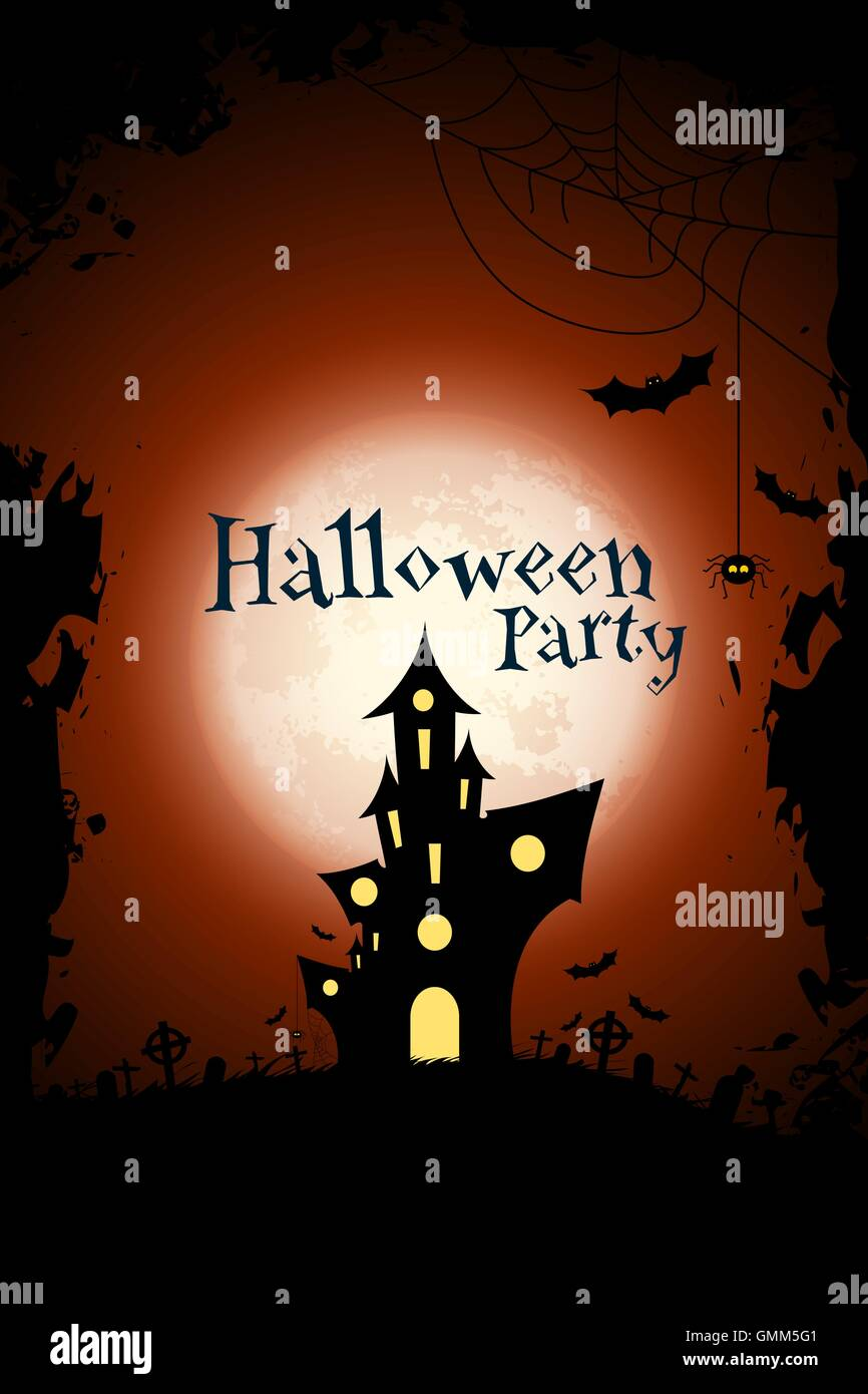 Grungy Halloween Party Background Stock Vector Art & Illustration ...