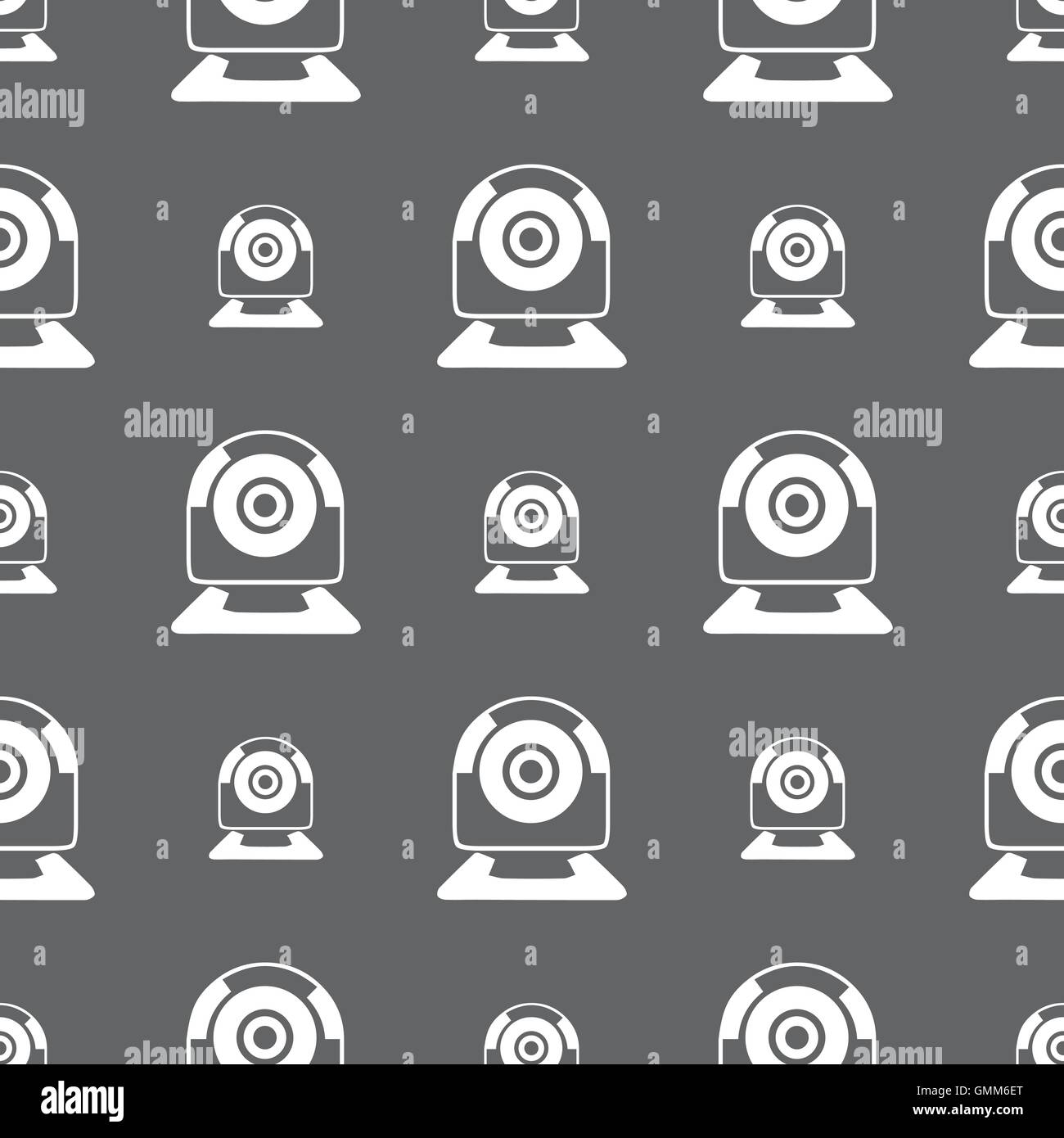 Webcam Sign Icon Web Video Chat Symbol Camera Seamless Pattern On A Gray Background Vector