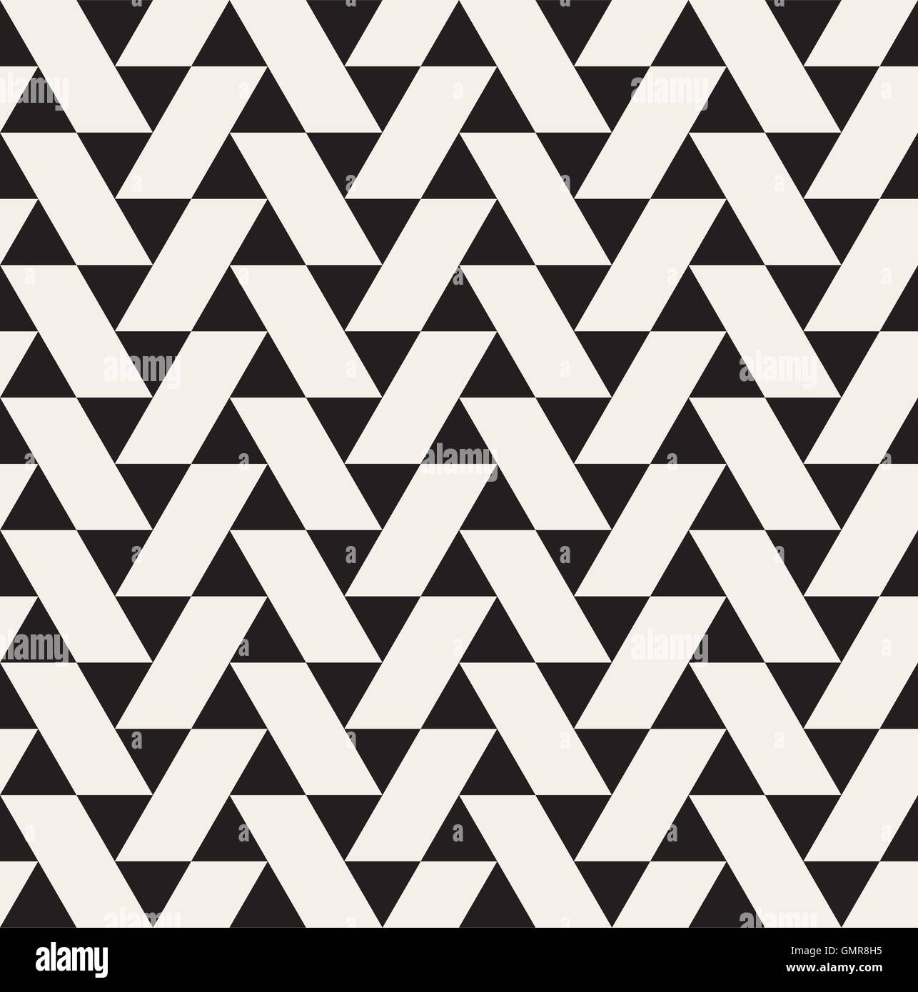 Vector Seamless Black and White Geometric Triangle Tiling Pattern ...