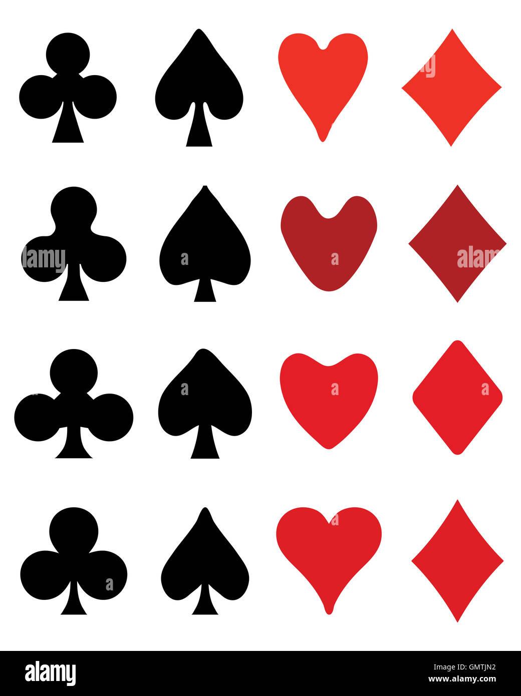 Set of playing card symbols stock photo royalty free image set of playing card symbols biocorpaavc