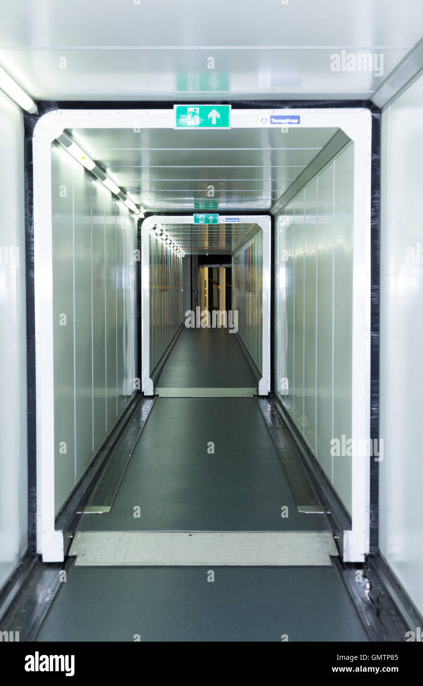 Sky Walk Boards : Sky bridge gate for passengers to board boarding plane