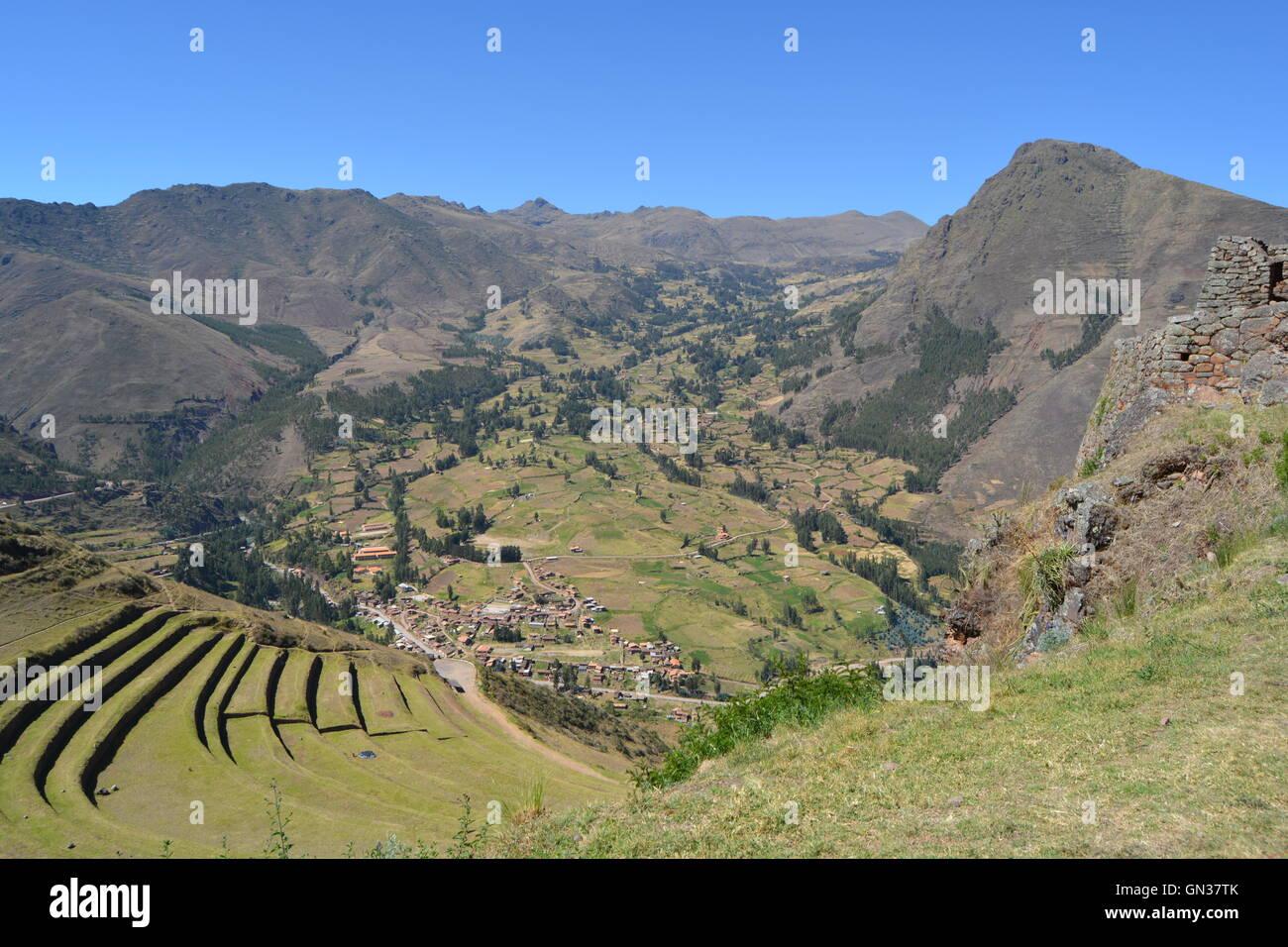 Mountain living near cusco peru royalty free stock photo - Pisac Inca Ruins Pisac Cusco Peru