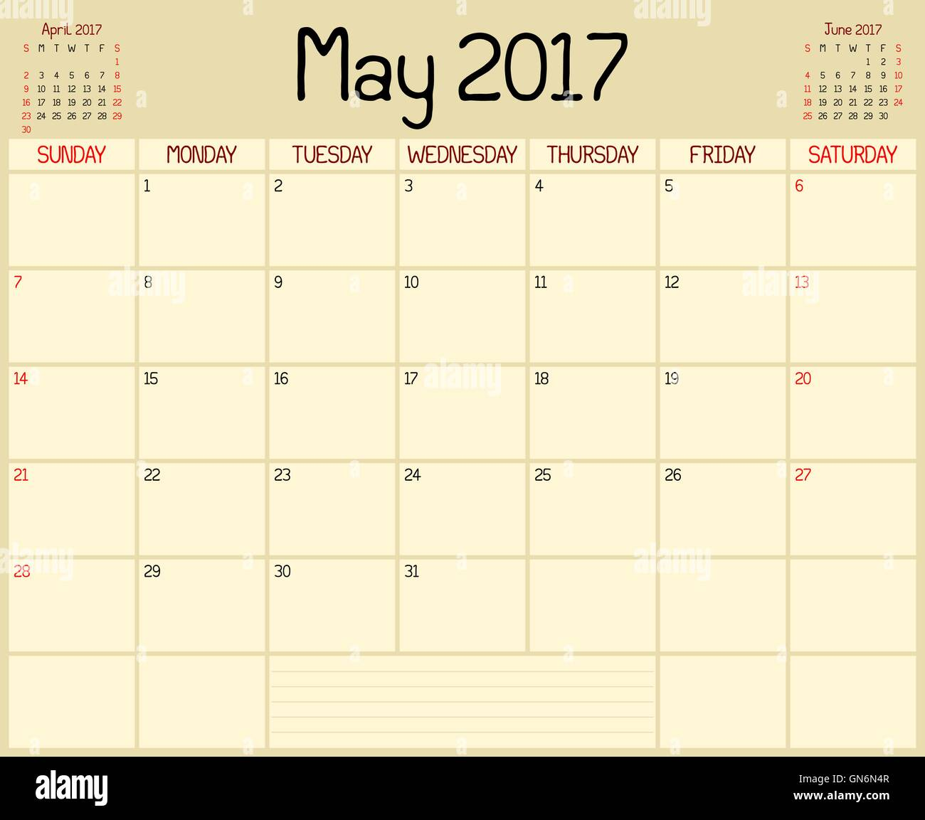 Calendar Planner May : A monthly planner calendar for may custom