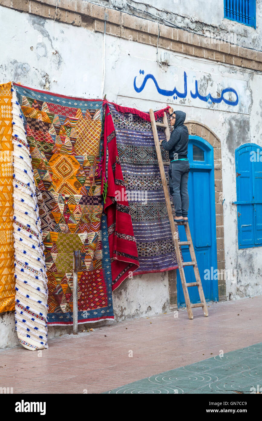 Hanging Rugs Essaouira Morocco Hanging Rugs For Sale Early Morning Place