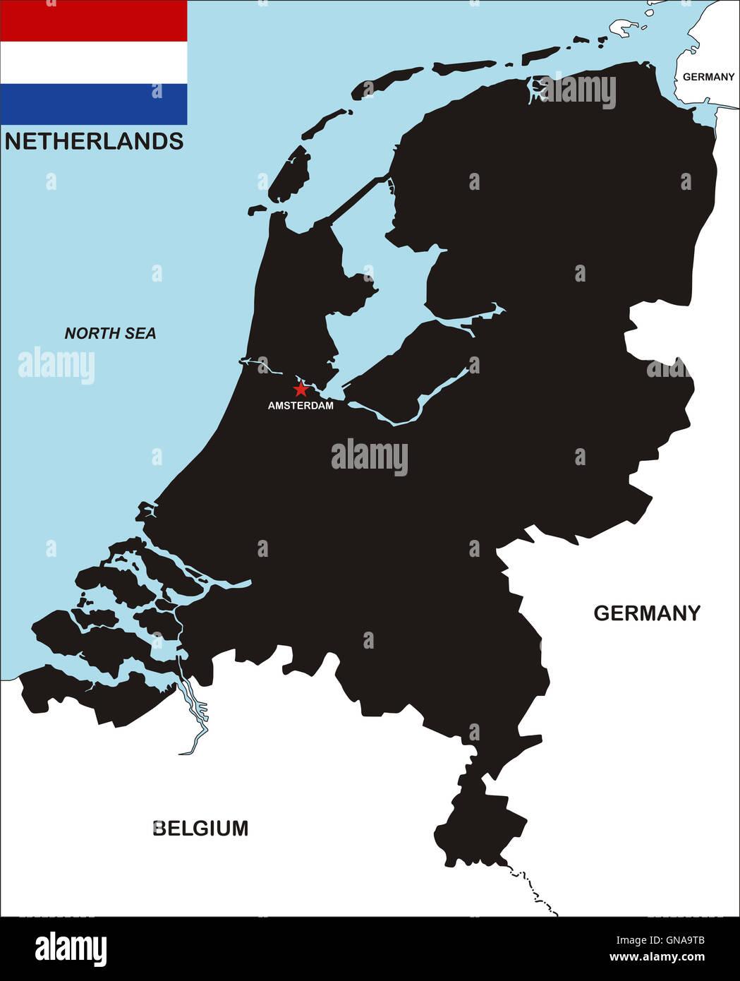 netherlands map Stock Photo Royalty Free Image 116397243 Alamy