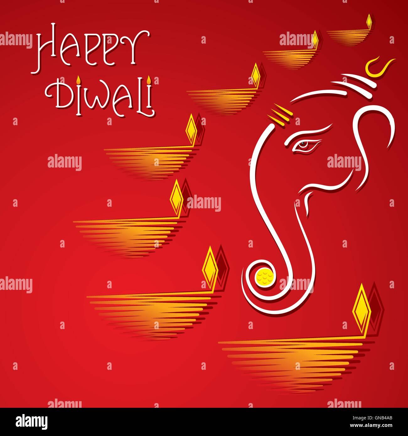 Happy diwali greeting card design stock vector art illustration happy diwali greeting card design kristyandbryce Choice Image