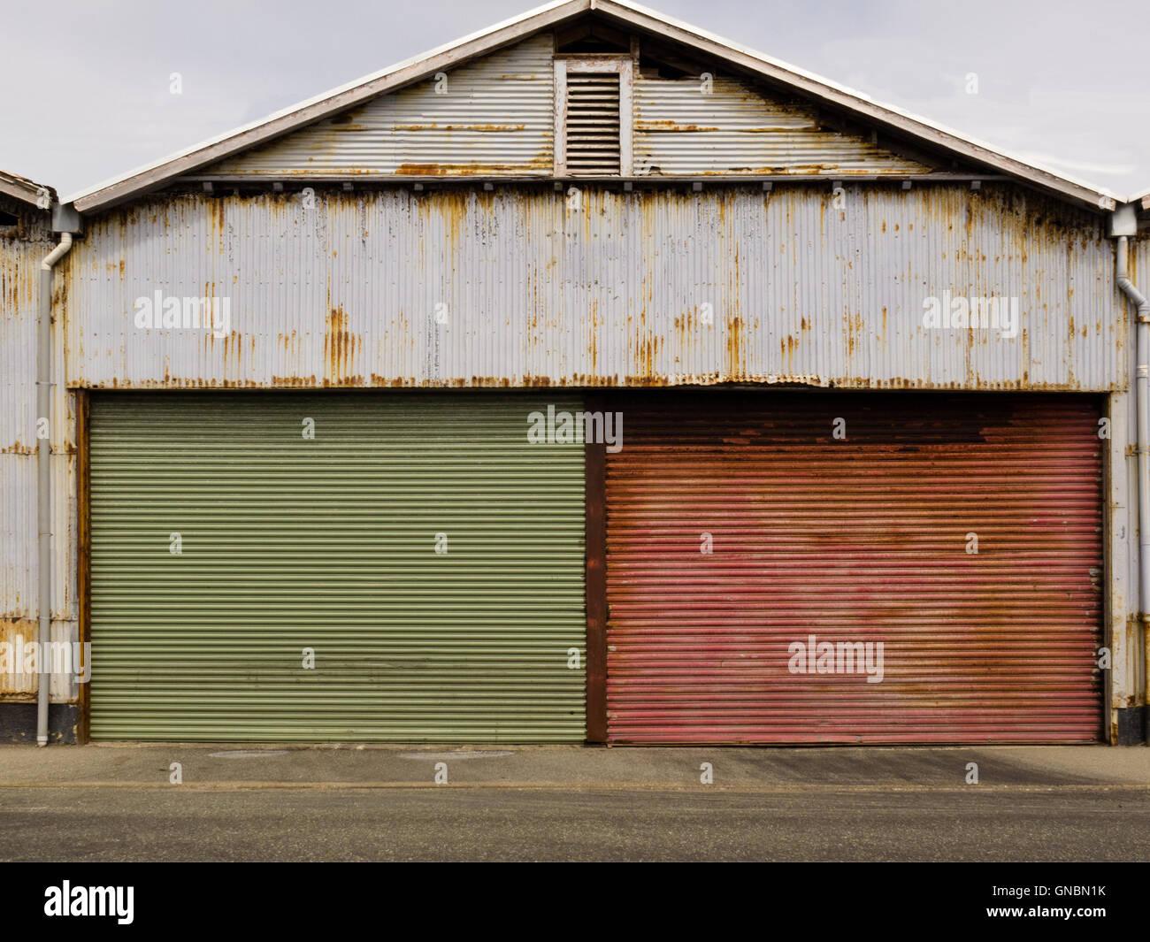 Grungy rusted corrugated iron garage doors stock photo royalty grungy rusted corrugated iron garage doors rubansaba
