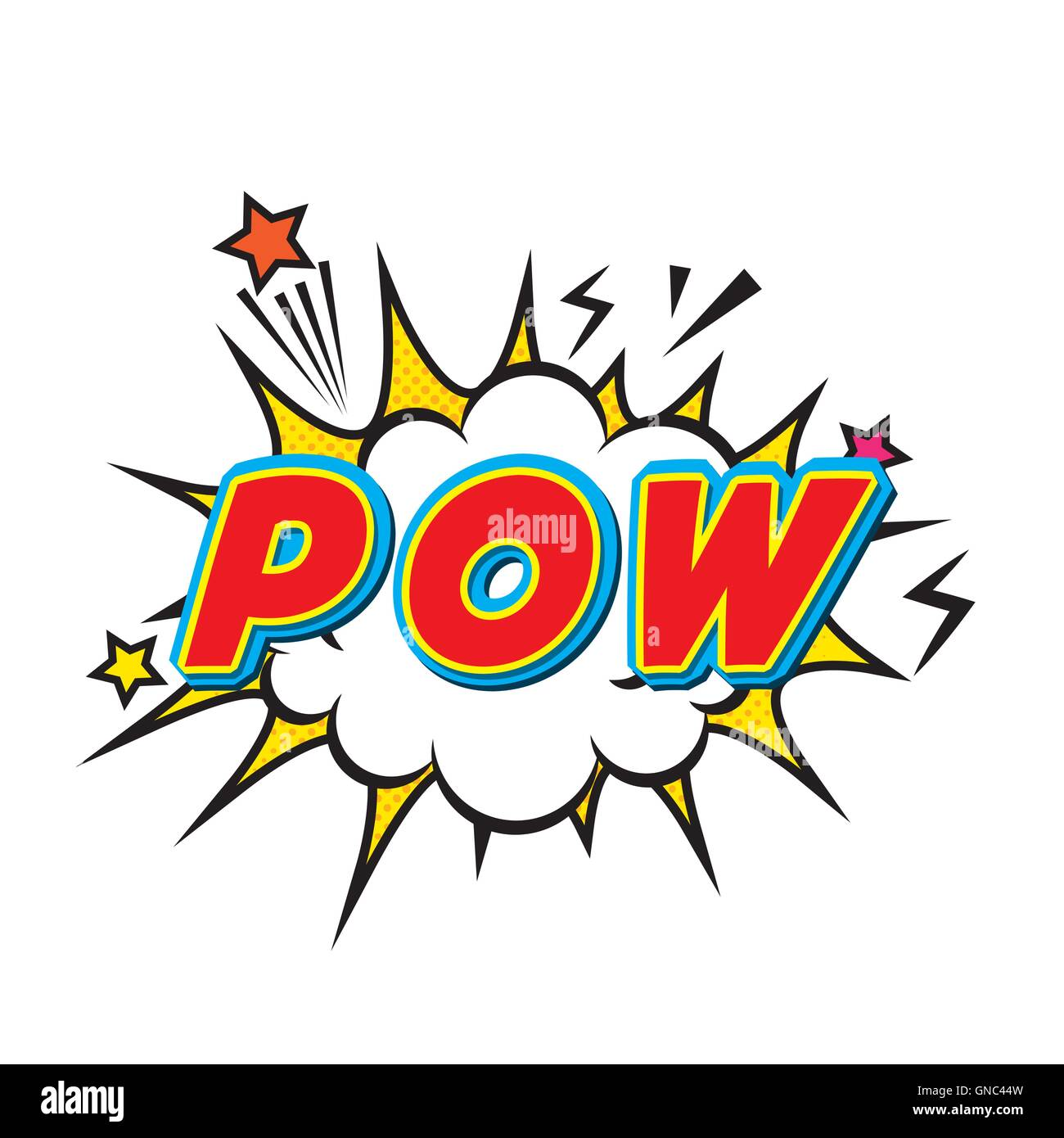 pow comic pop art style stock vector art amp illustration