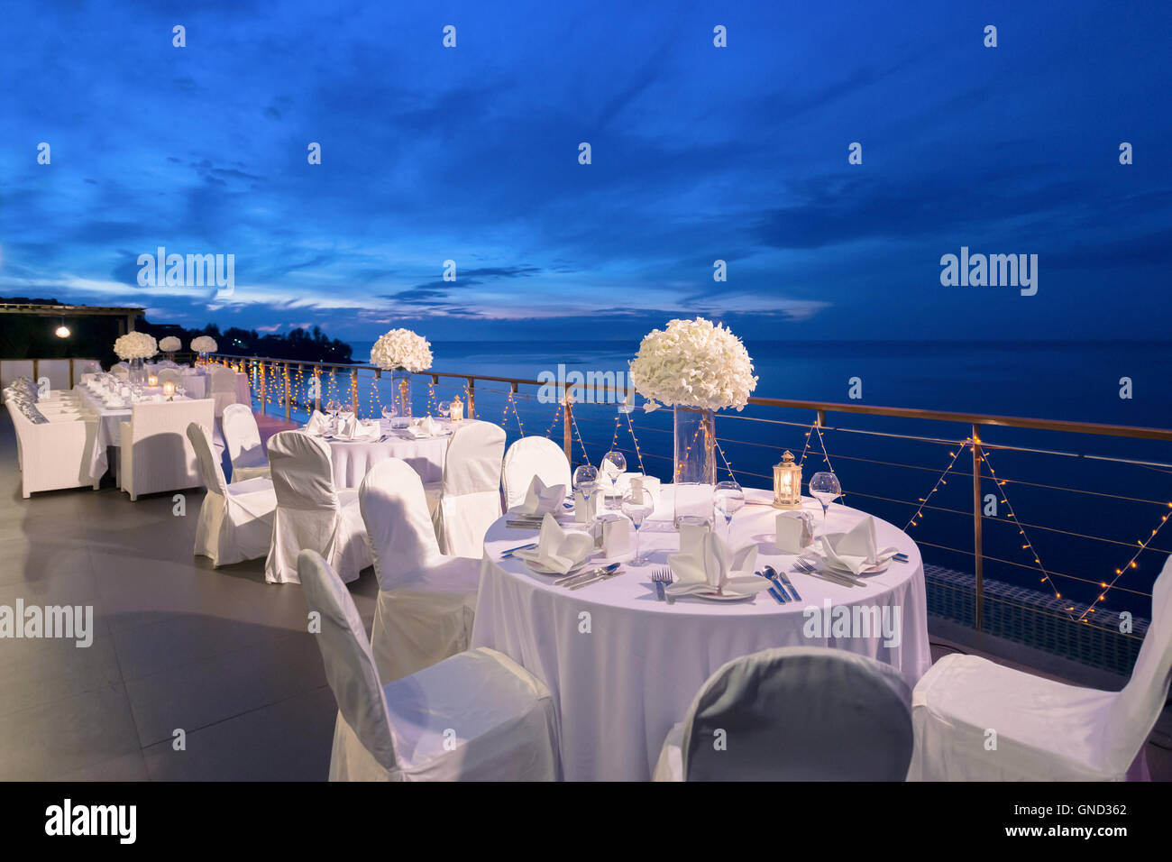 romantic dinner setup, decoration with candle light. selective
