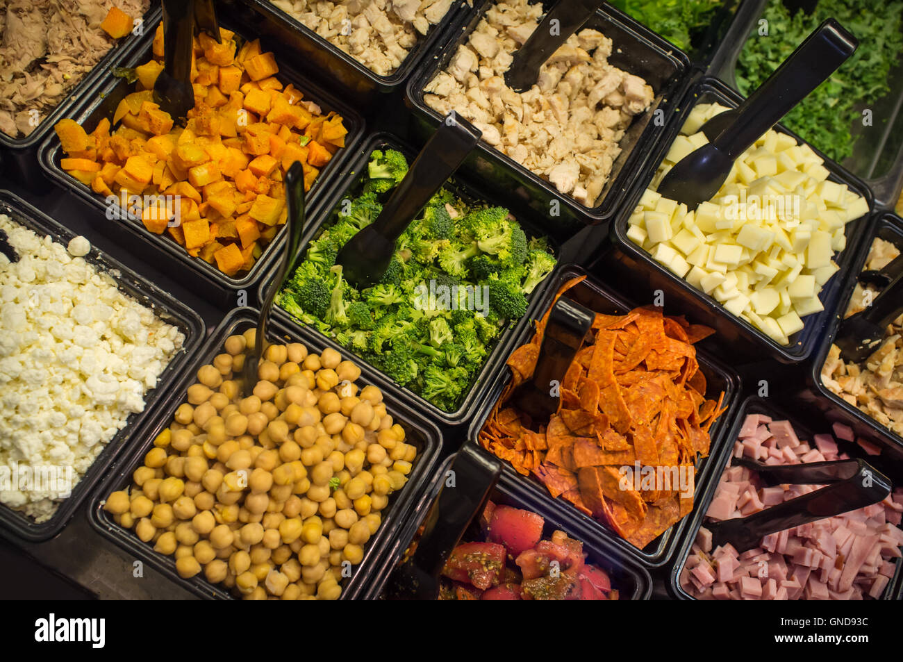 Various Fresh Fruit And Vegetable Salad Bar Healthy Items