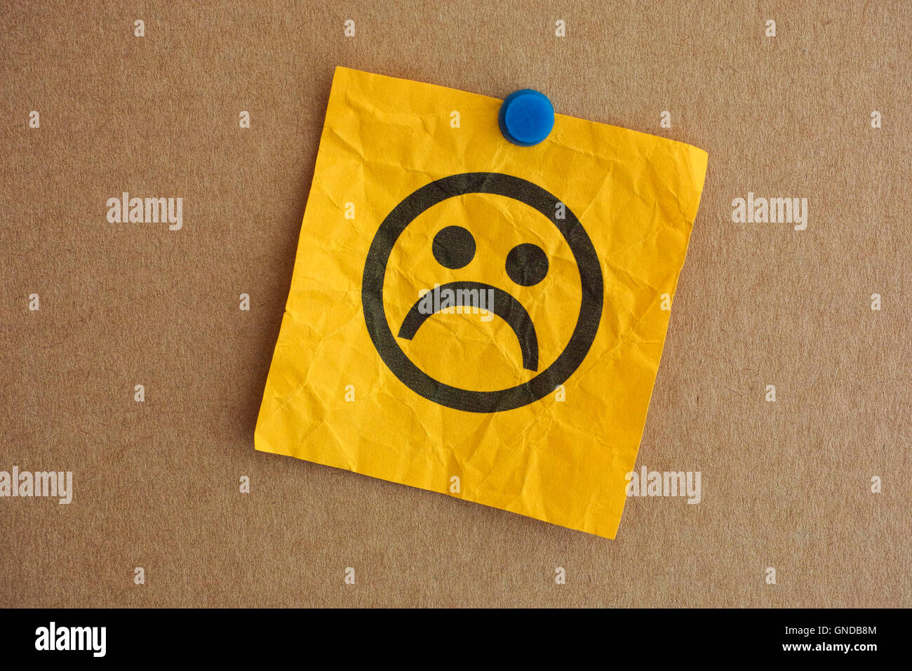 Paper note with sad face closeup stock photo 116464228 alamy paper note with sad face closeup buycottarizona Gallery