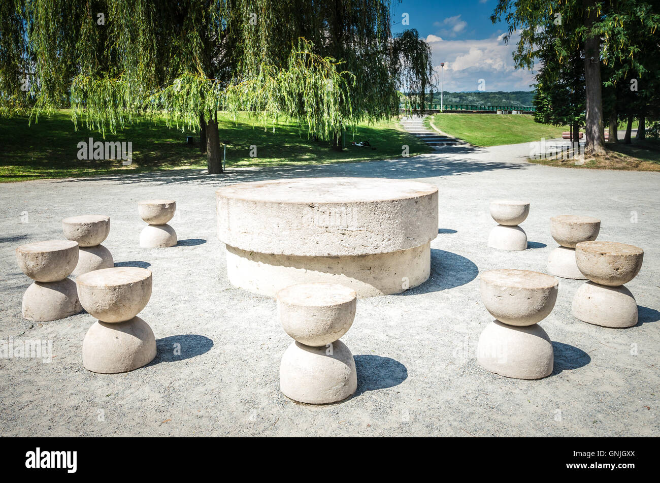 The Table Of Silence. It is a stone sculpture made by Constantin ... for Brancusi Table Of Silence  lp4eri
