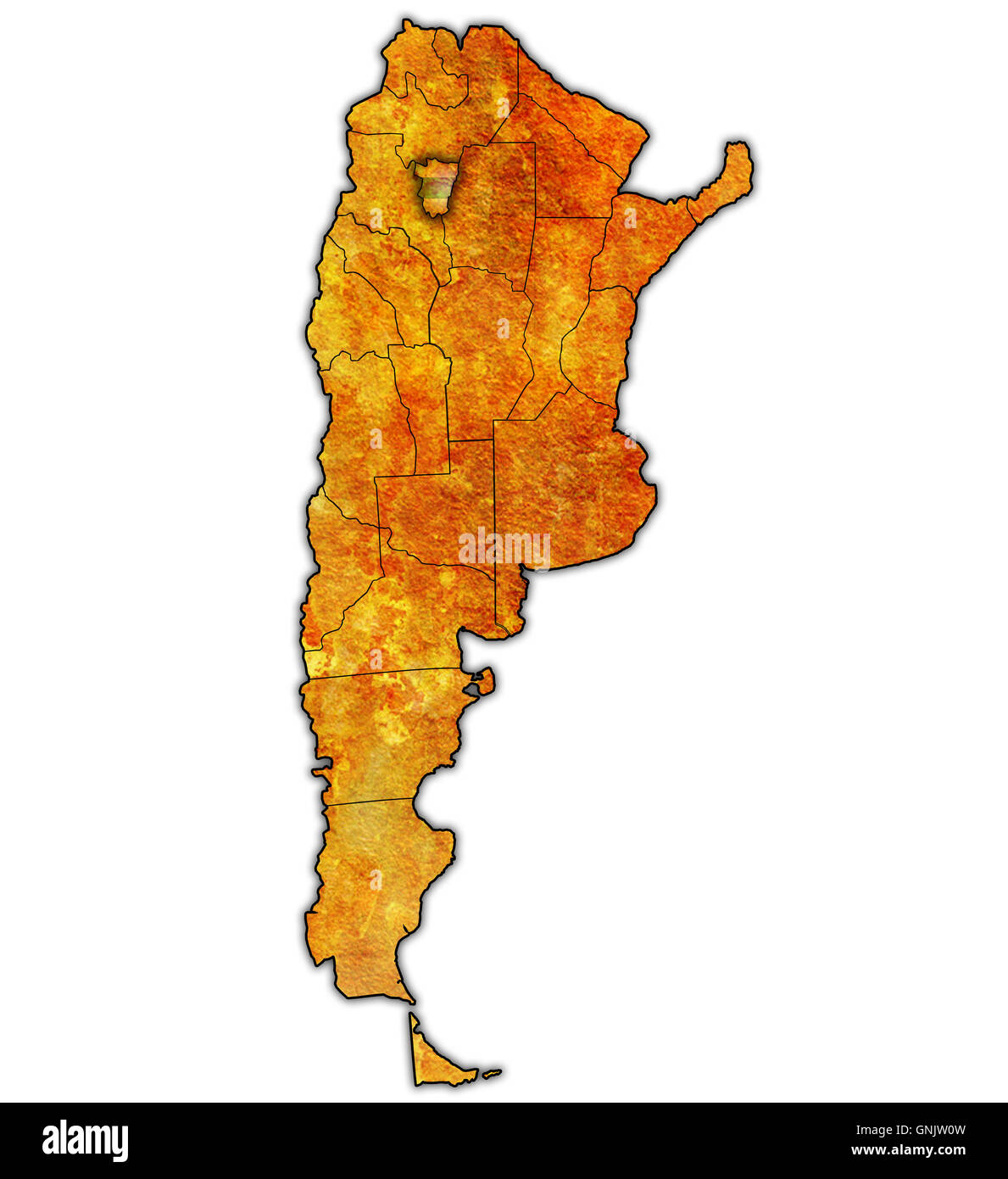 Tucuman Region With Flag On Map Of Administrative Divisions Of - Argentina map tucuman