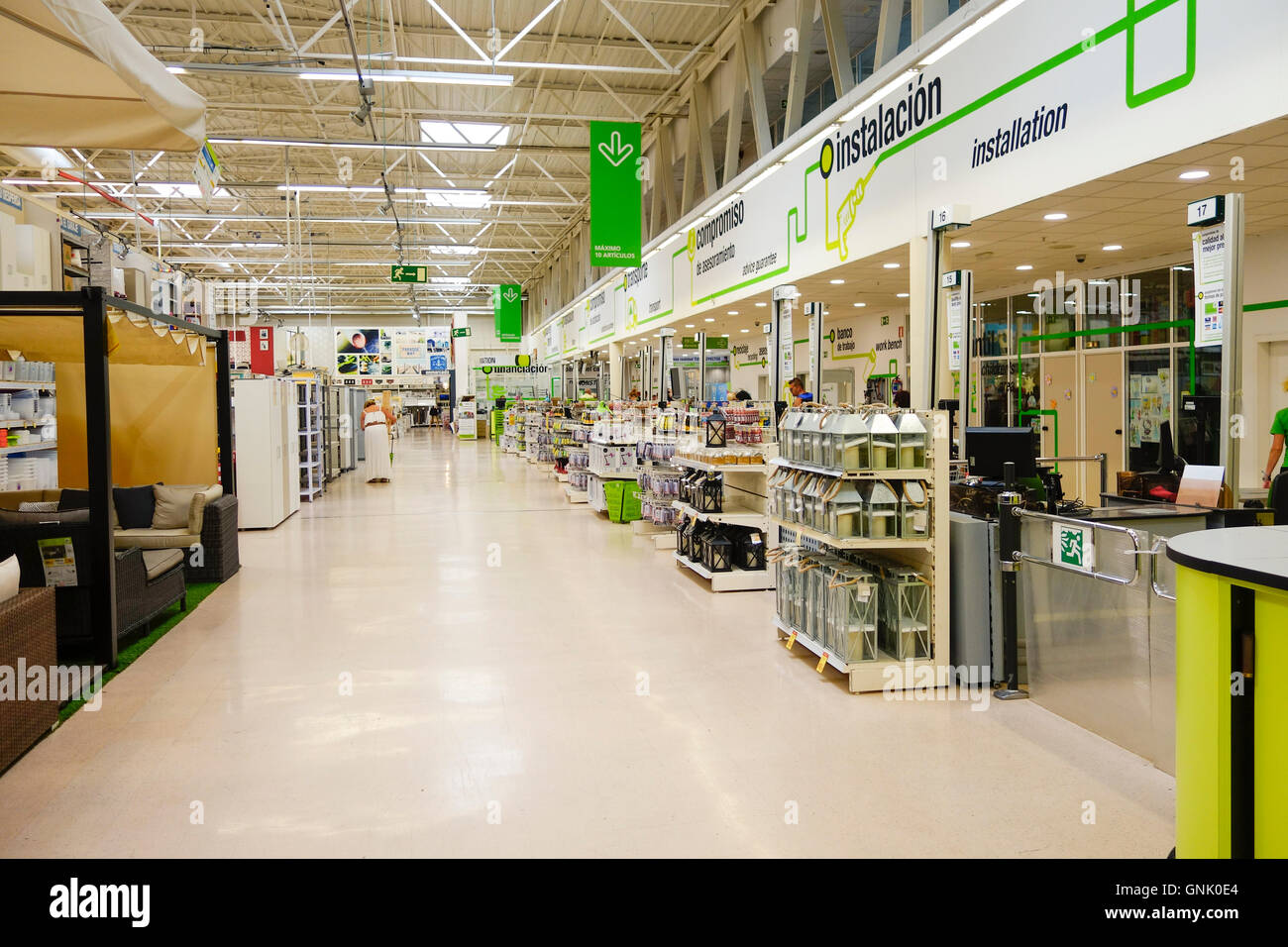 Interior leroy merlin retail chain store diy products construction stock photo royalty free - Leroy merlin theix ...