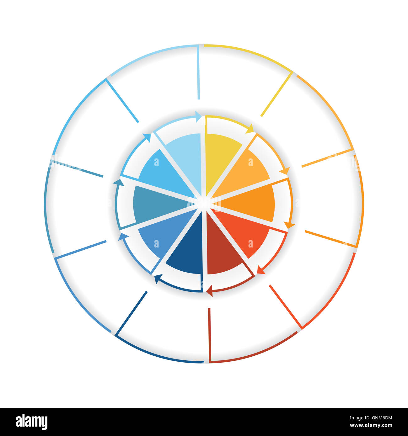 Arrows from colourful lines around circle template infographic ten arrows from colourful lines around circle template infographic ten position pie chart nvjuhfo Choice Image