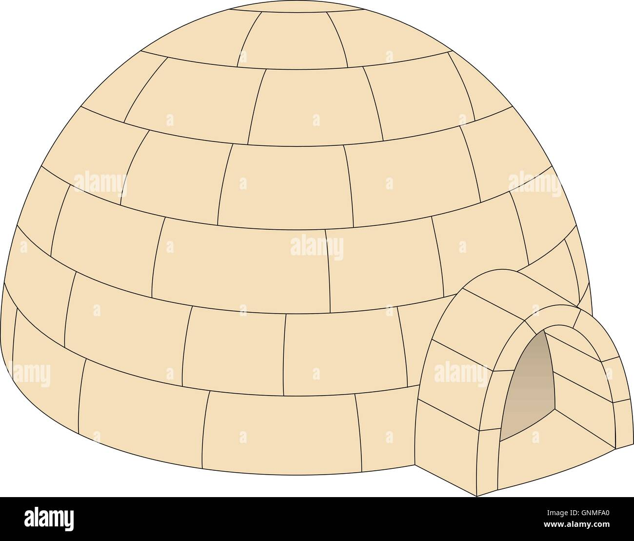 Igloo in light brown design stock vector art illustration igloo in light brown design pooptronica