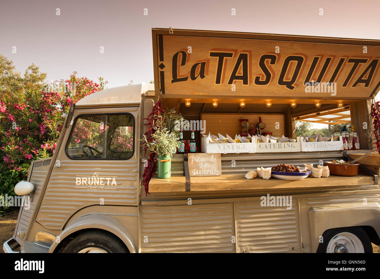 Gastronomy food truck wedding ceremony in a traditional gastronomy food truck wedding ceremony in a traditional andalusian farmhouse antequera malaga province andalusia southern sp junglespirit Images