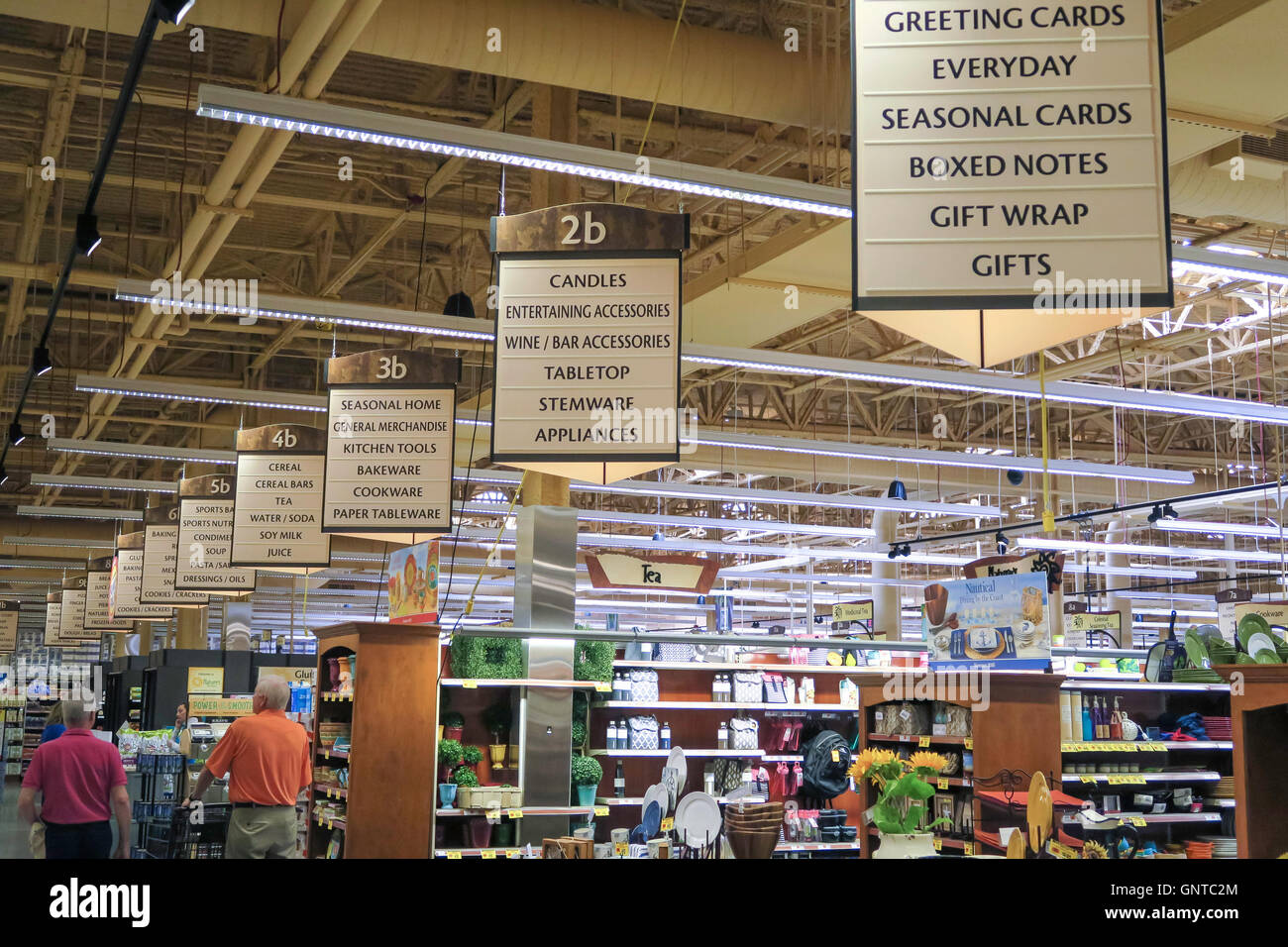 Overview Of Store Interior With Aisle Signs Wegmans