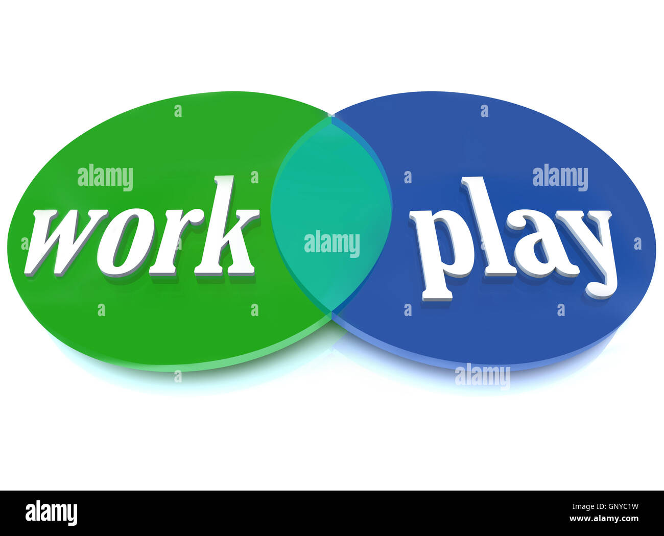 Work play venn diagram intersecting circles fun enjoyment stock work play venn diagram intersecting circles fun enjoyment pooptronica Images